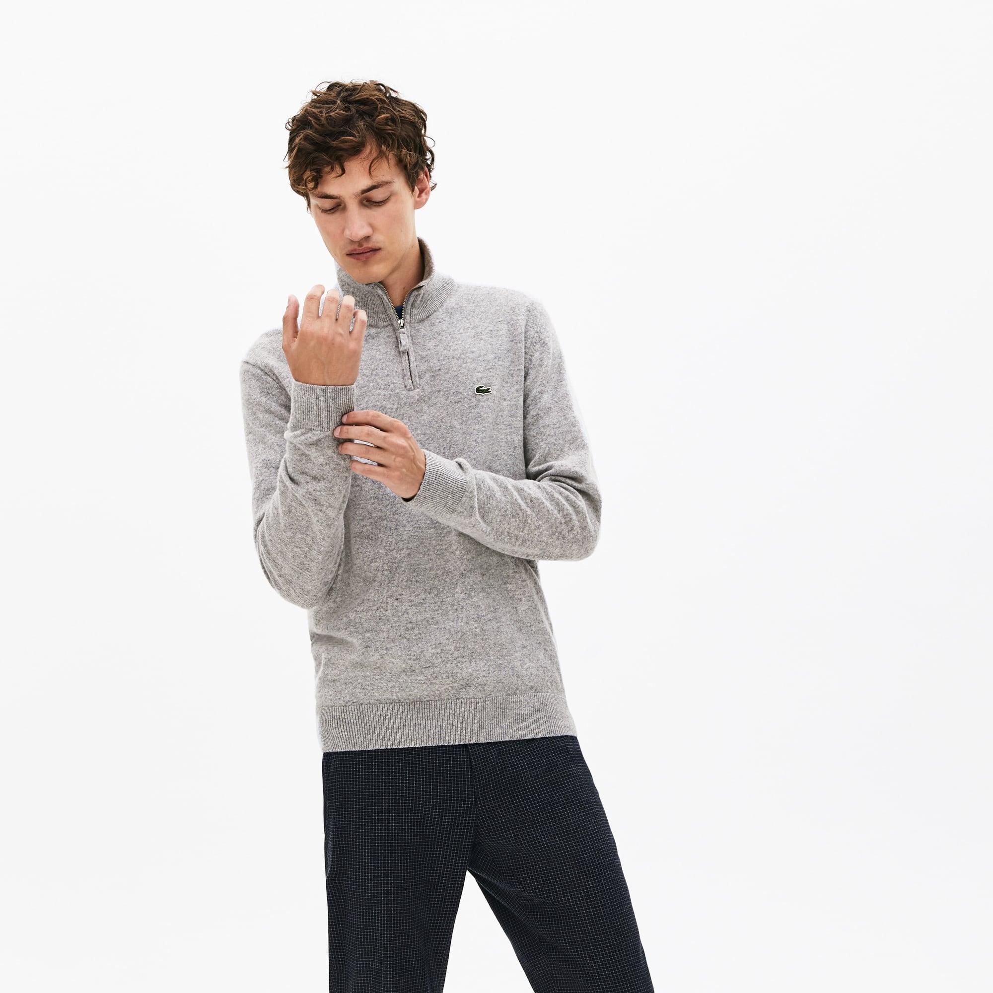 Lacoste Lingerie Men's Standup-Collar Wool Sweater