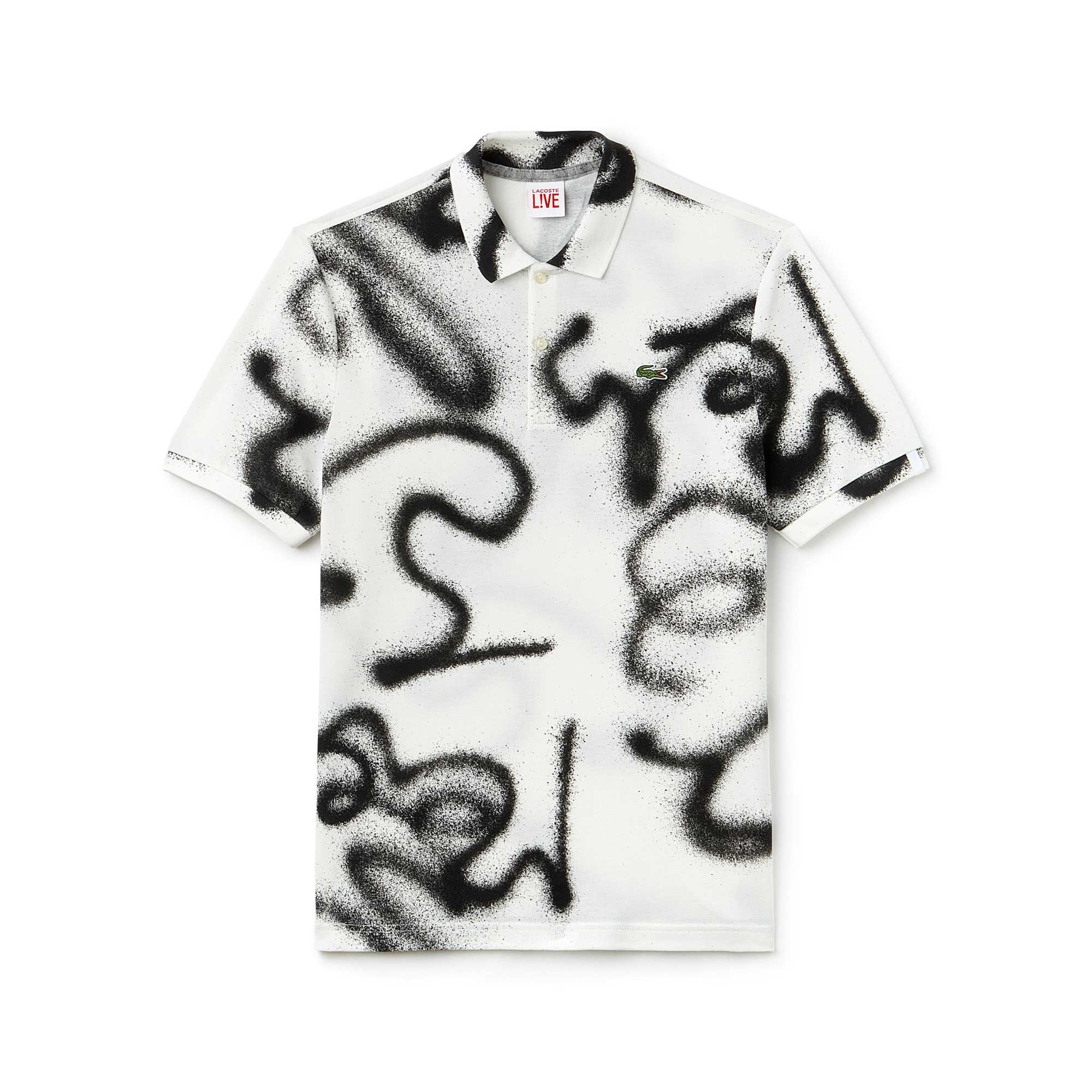 Men's LIVE Regular Fit Graffiti Piqué Polo