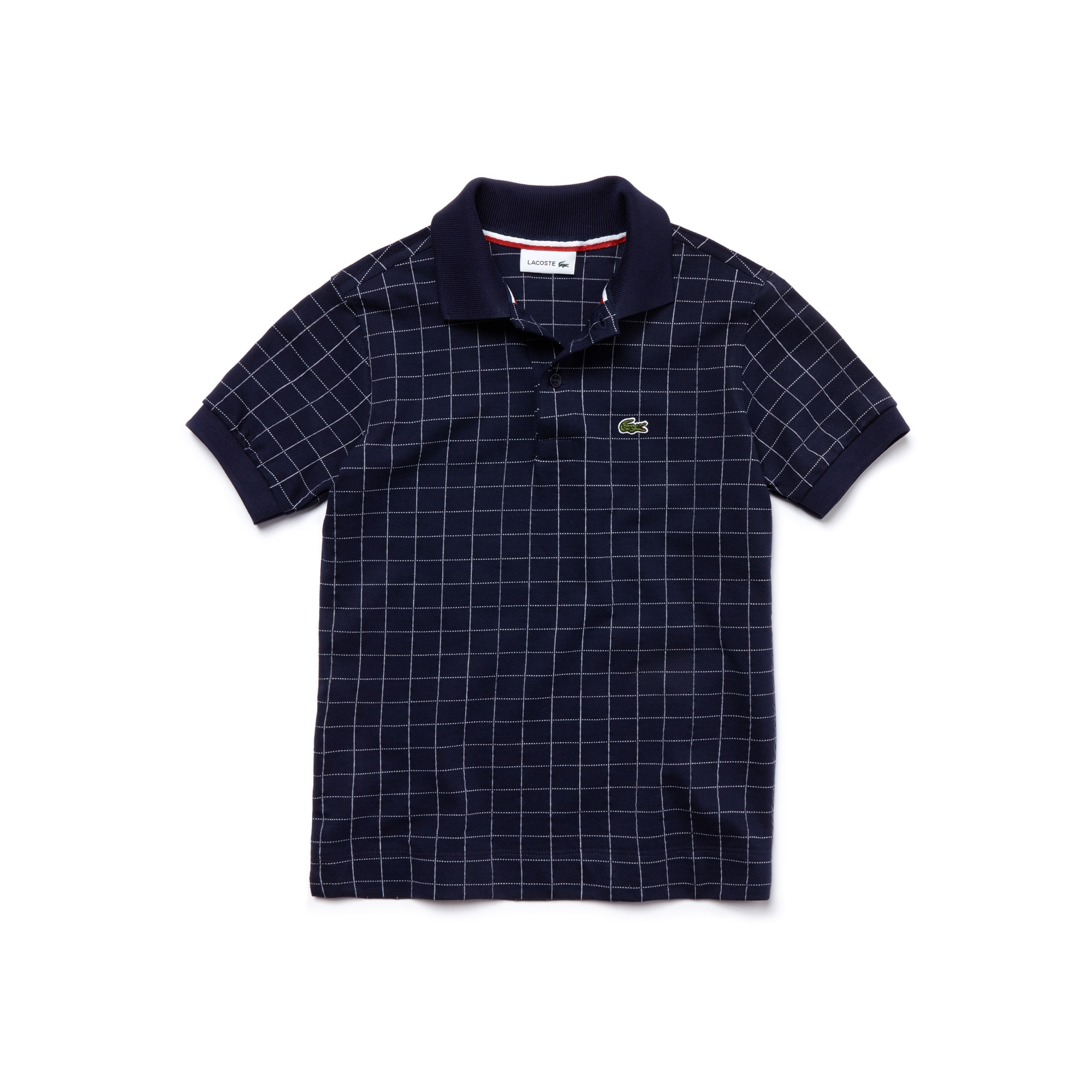 Kids' Classic Fit Net Print Fine Cotton Piqué Polo Shirt