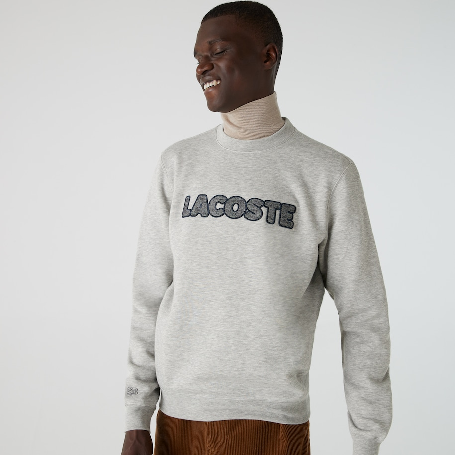 Men's Lacoste Crew Neck Flecked Fleece Sweatshirt