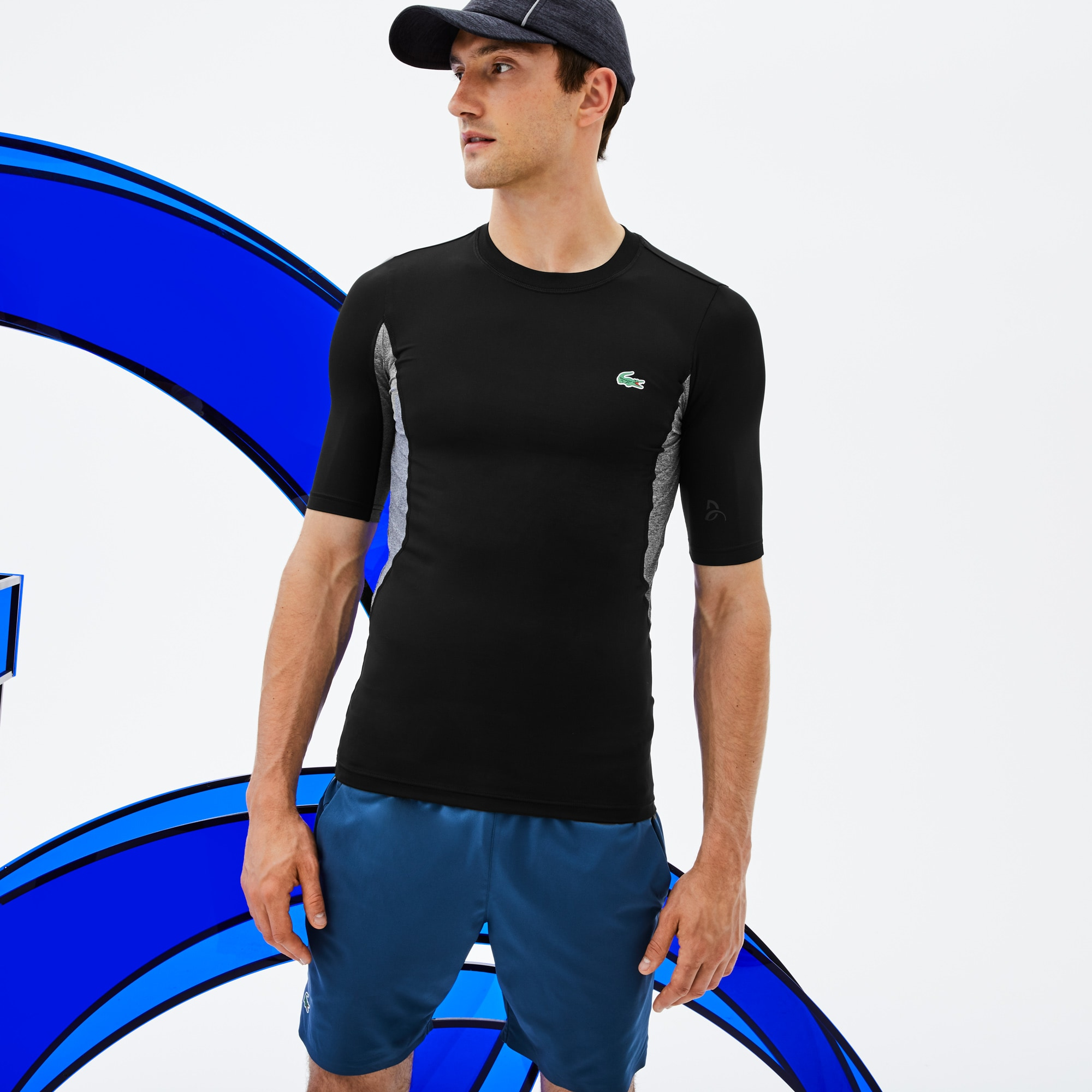Men's SPORT Crew Neck Stretch Technical Jersey T-shirt -  x Novak Djokovic Off Court Premium Edition