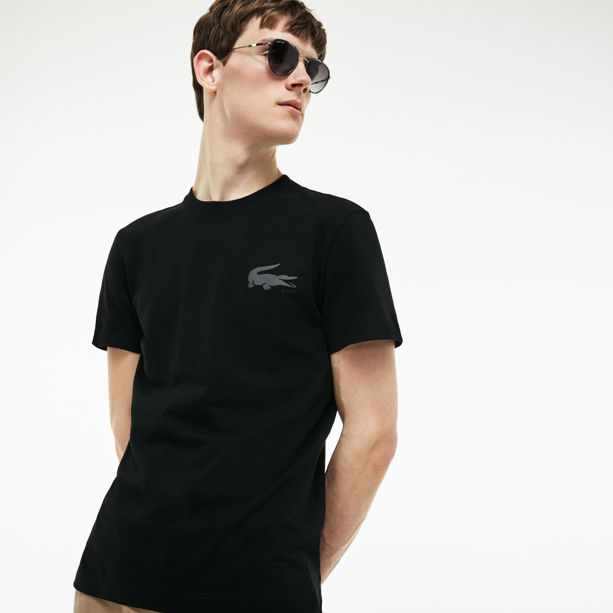 Men's Crocodile Lettering T-Shirt
