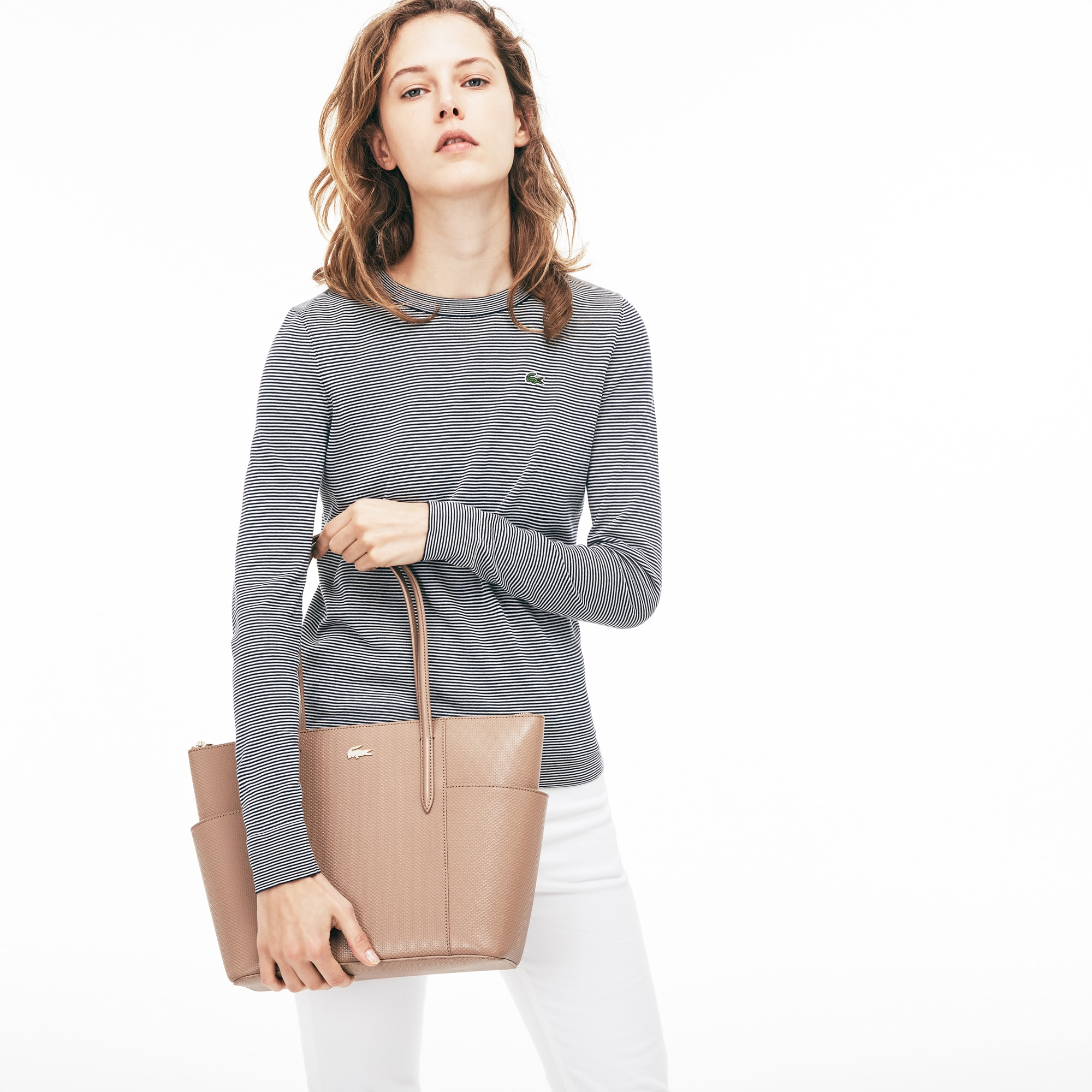 Women S Chantaco Piqué Leather Zip Pockets Tote