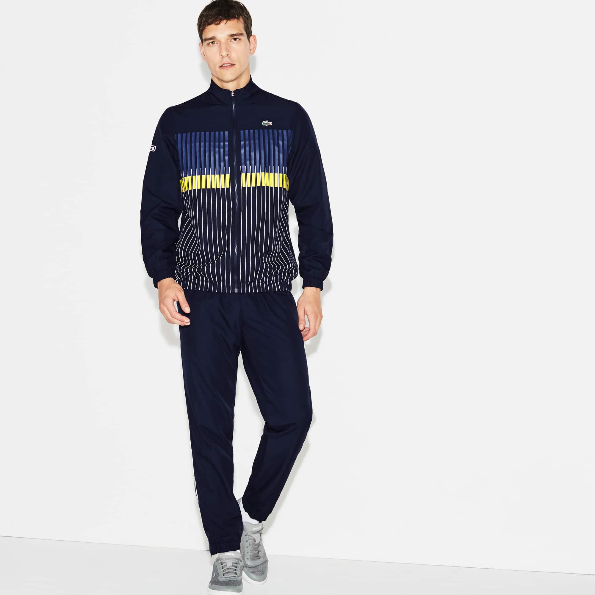 Men's  SPORT Tennis Striped Brand Design Tracksuit
