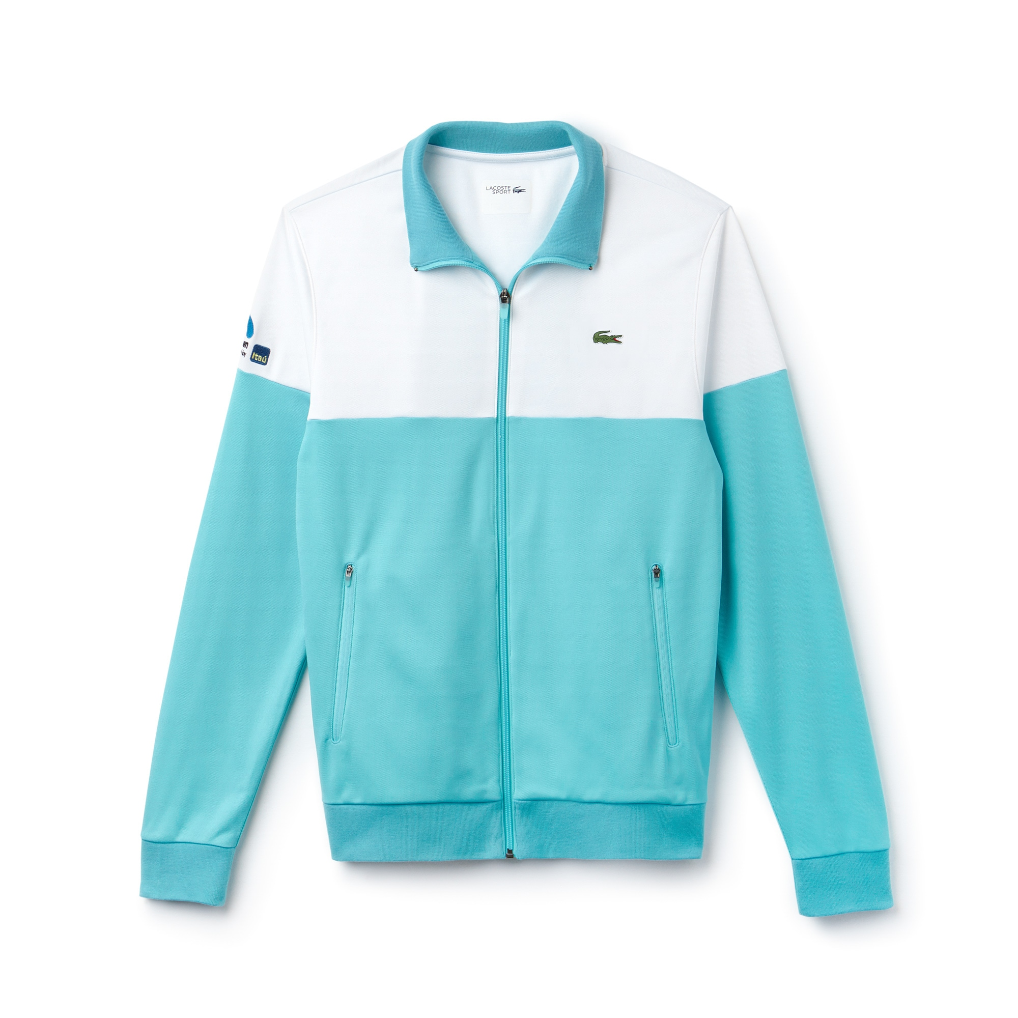 Men's SPORT Miami Open Colorblock Zip Tech Piqué Tennis Sweatshirt