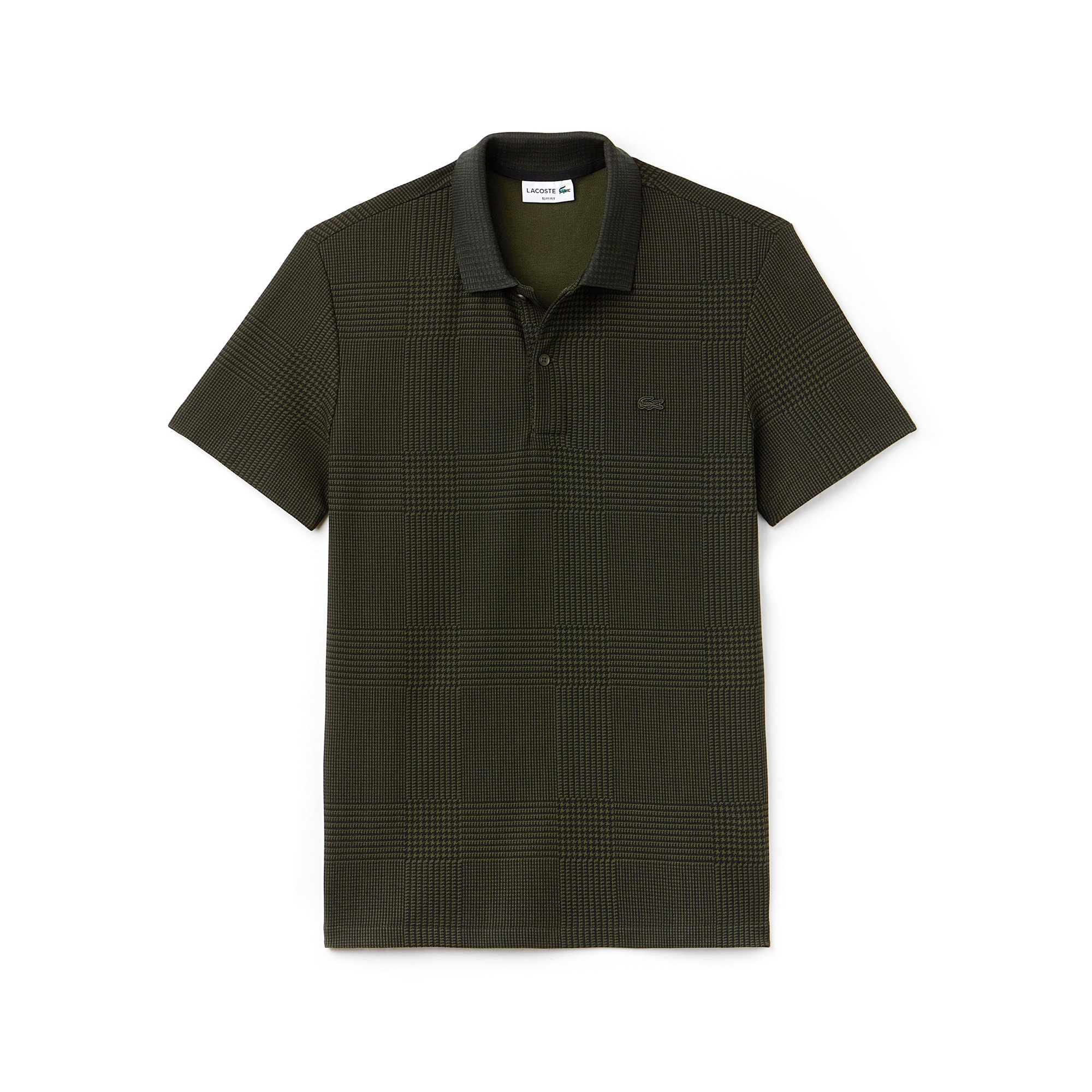 Men's  Slim Fit Bicolor Print Cotton Micro Piqué Polo