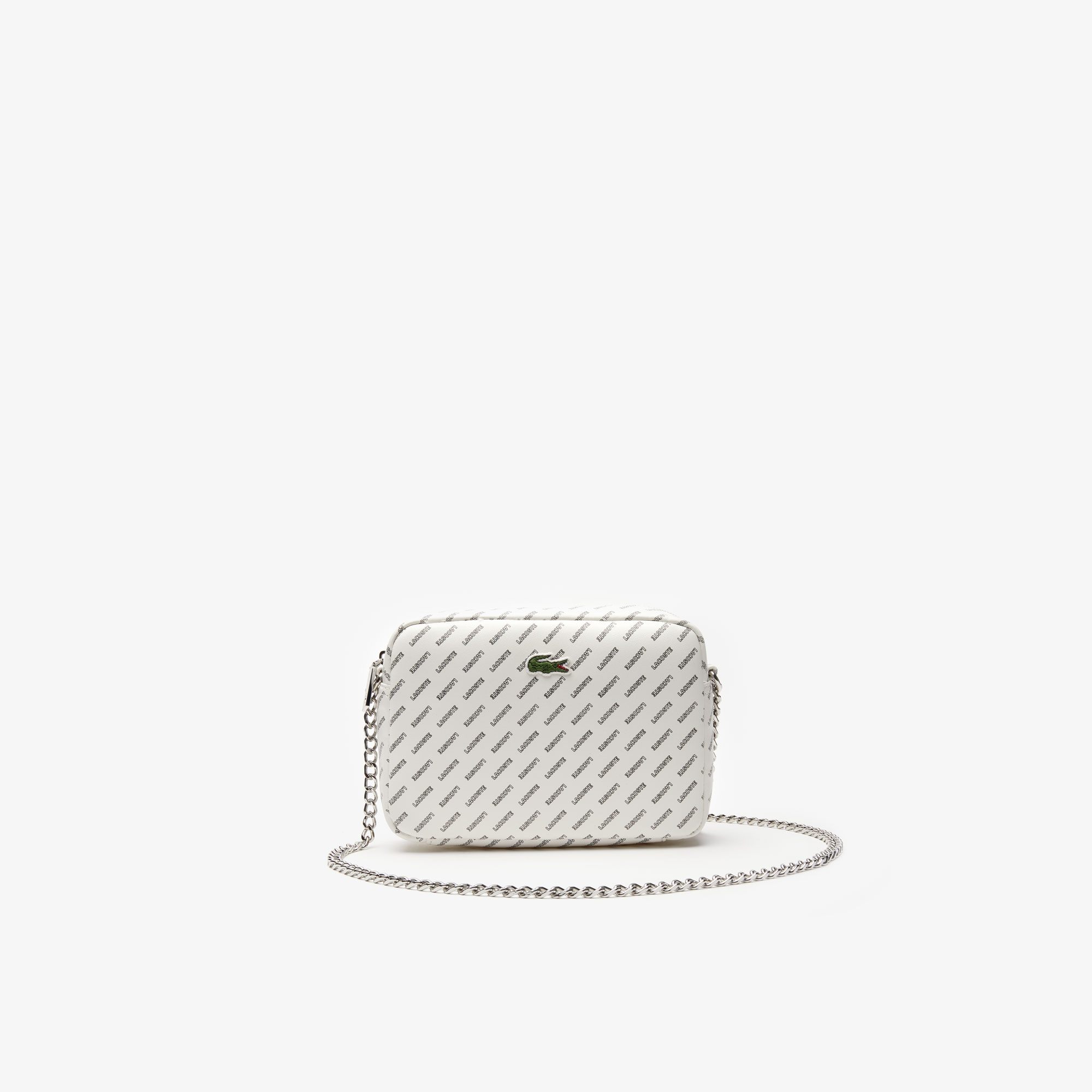 Women's Lacoste LIVE Coated Print Canvas Shoulder Bag