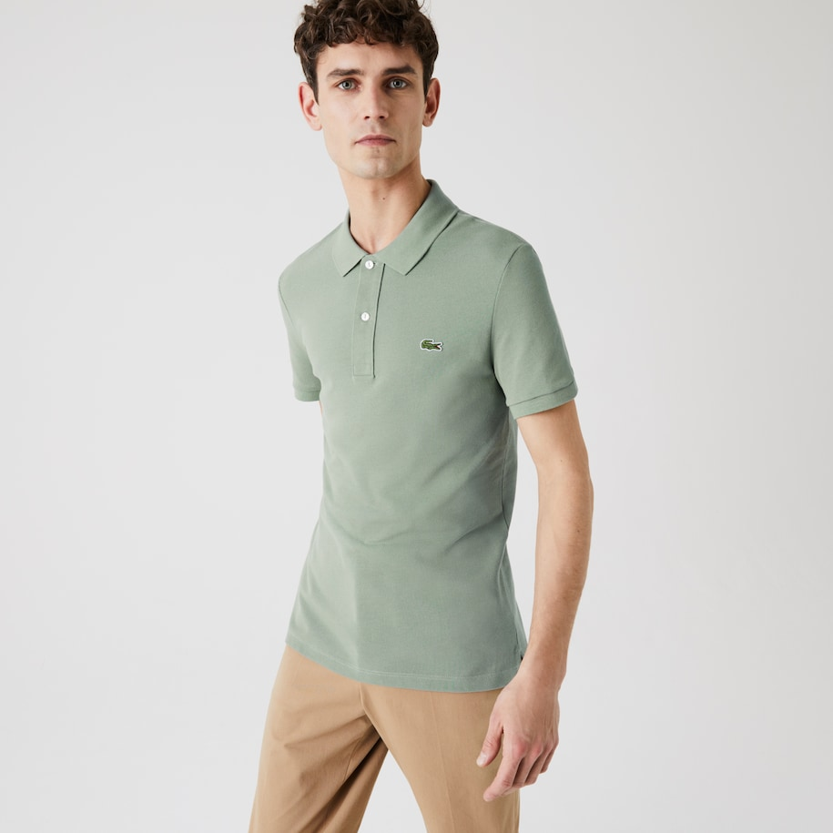 Men's Slim Fit Polo in Petit Piqué