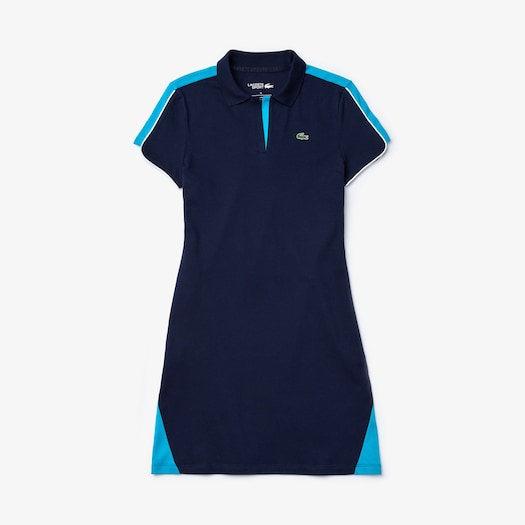라코스테 우먼 골프 폴로 원피스 Lacoste Womens SPORT Stretch Cotton Pique Golf Polo Dress