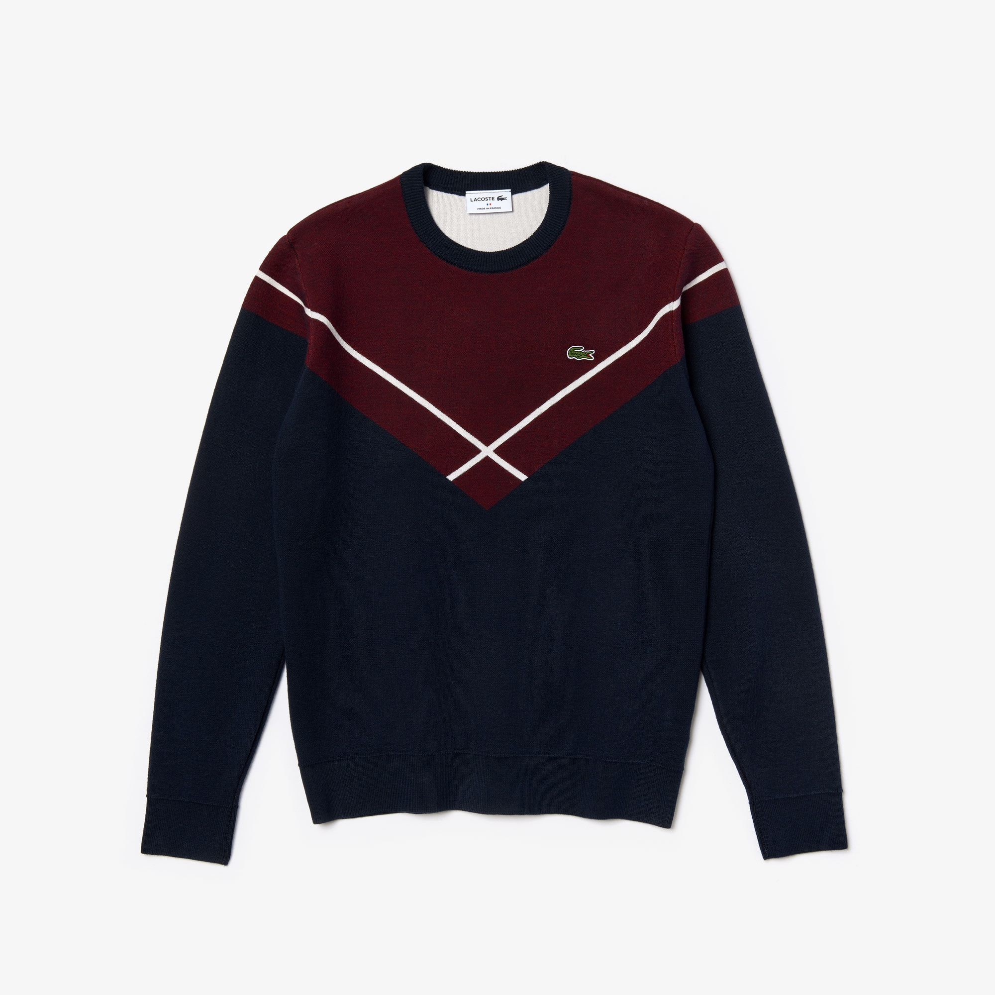 Lacoste Jeans Men's Made In France Crewneck Jacquard Sweater