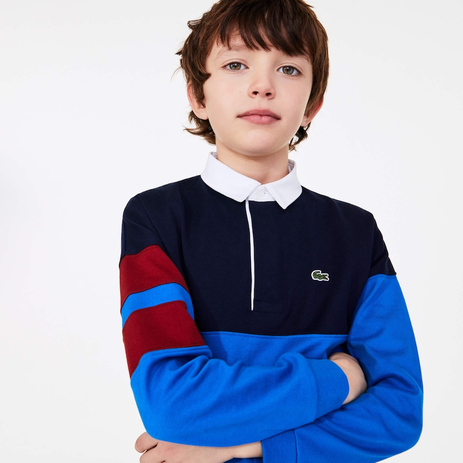 Boys' Colorblock Thick Cotton Rugby Polo