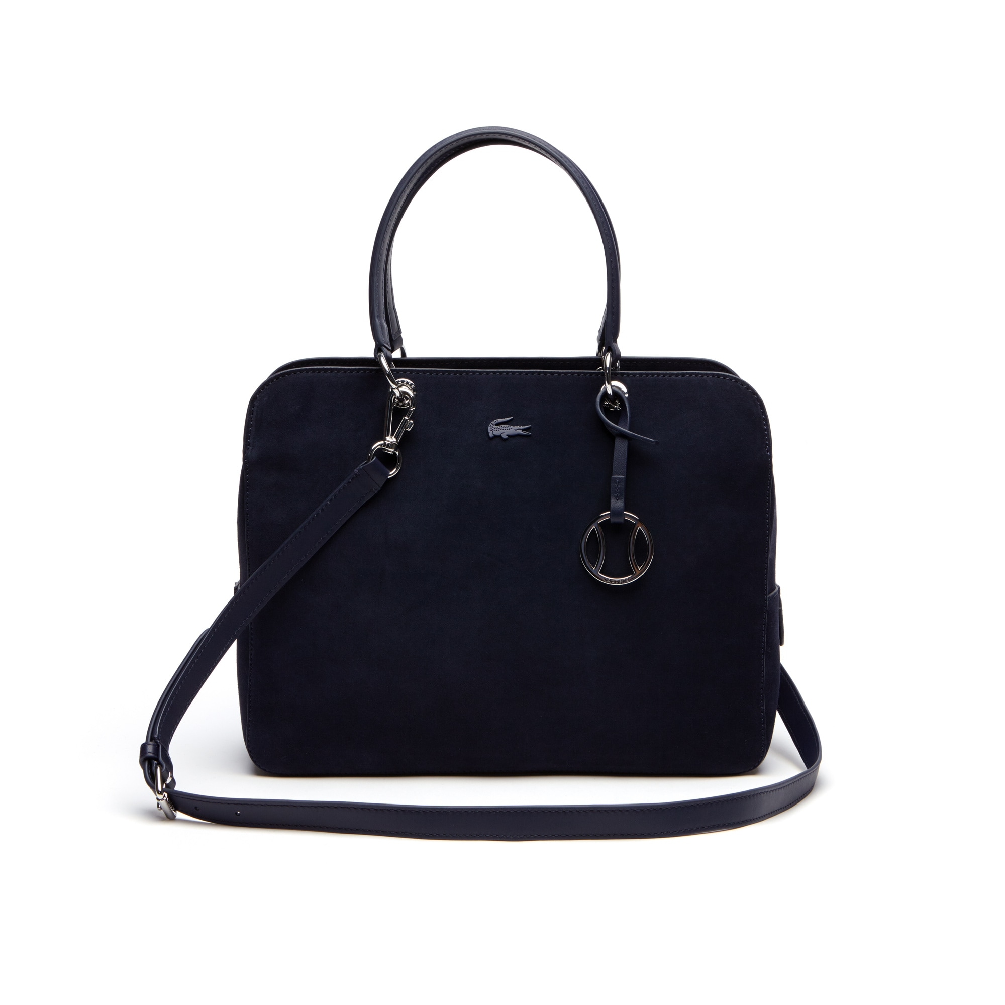 Women's Off The Court Dual Carry Suede Leather Boston Bag