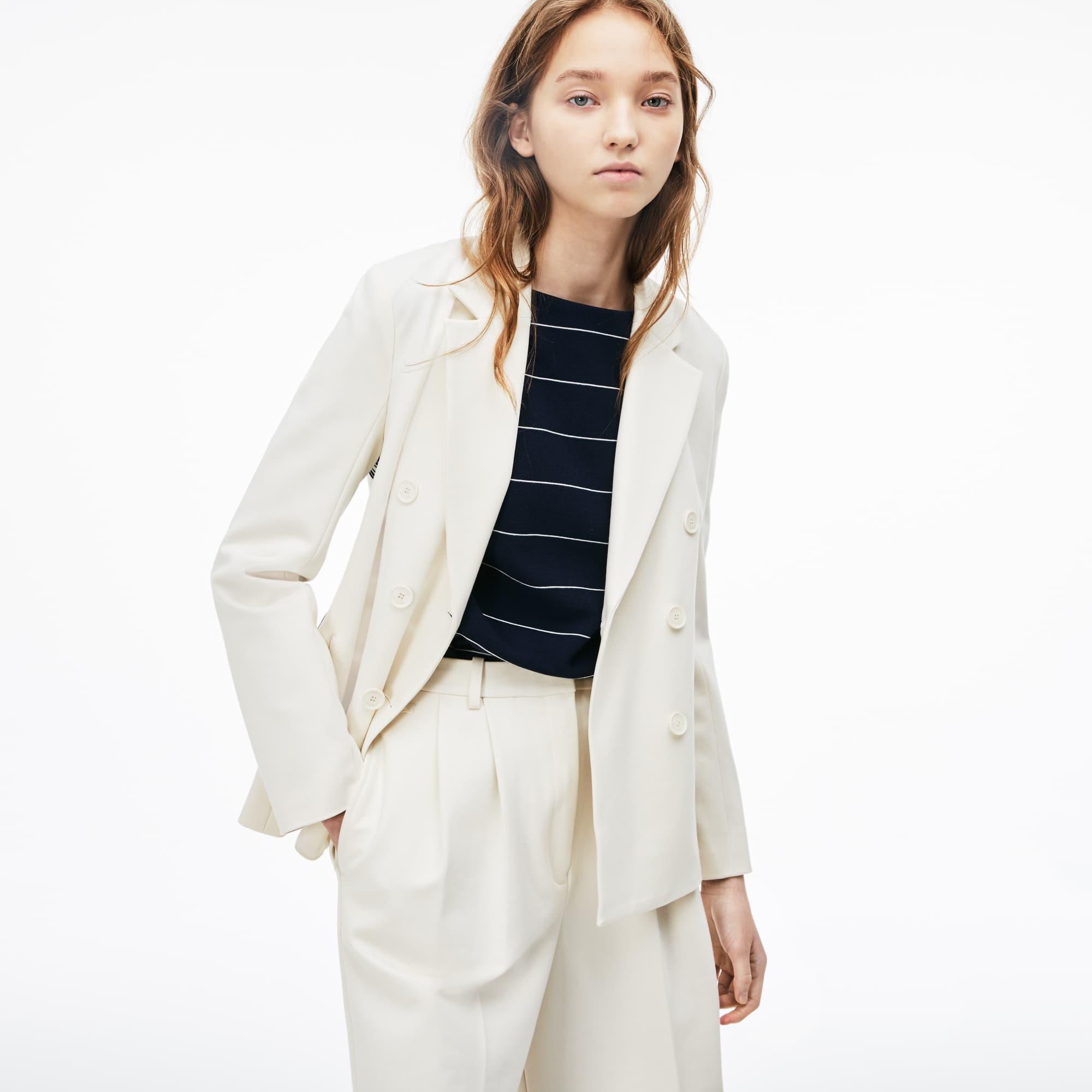 Women's Side Stripe Milano Knit Blazer