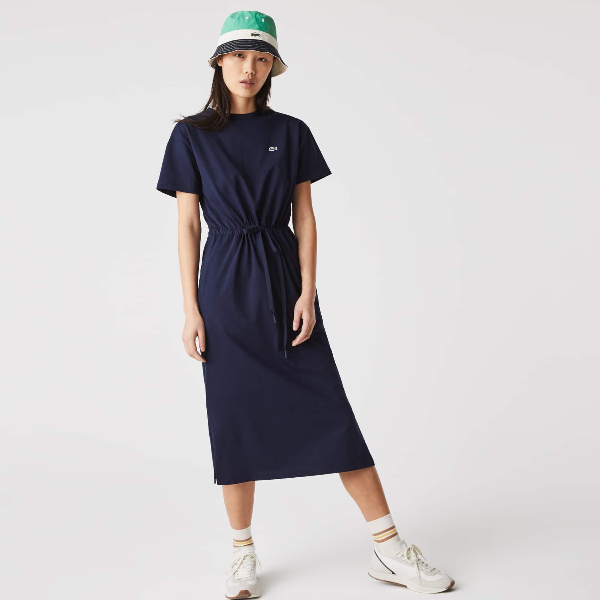 라코스테 Lacoste Women's Long Fitted T-shirt Dress