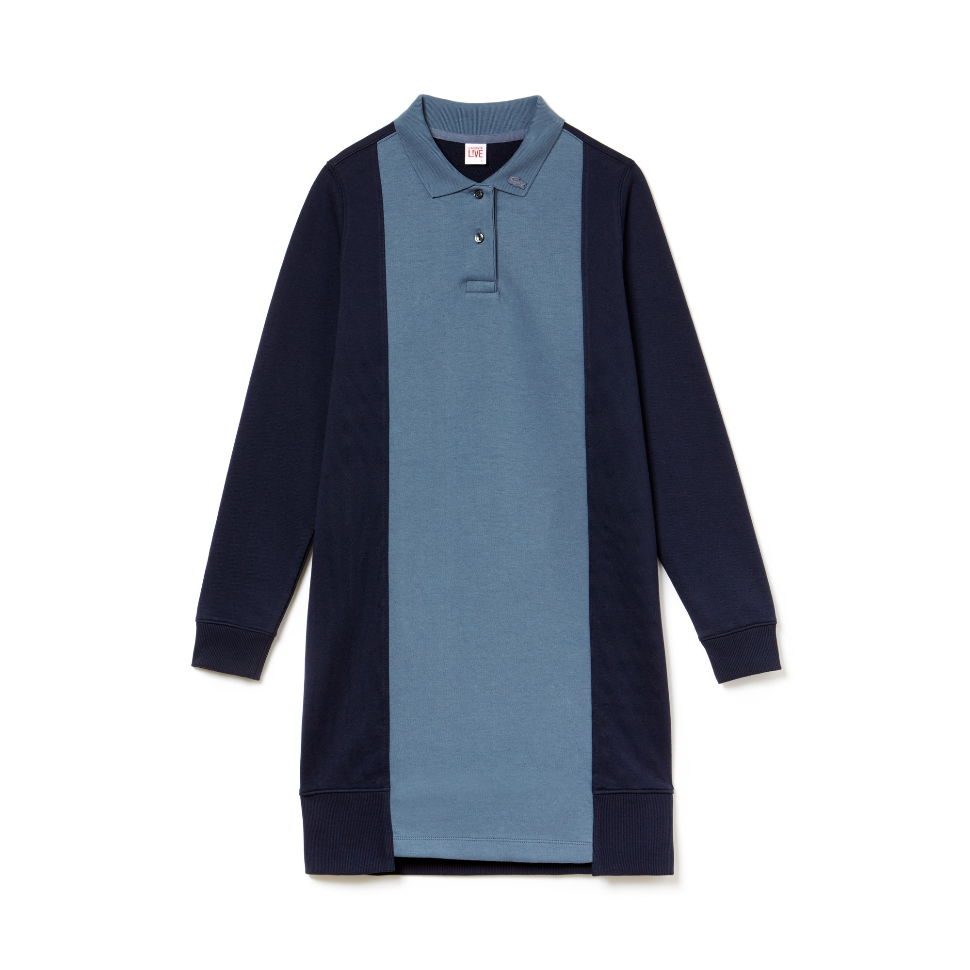 Women's LIVE Contrast Panels Fleece Polo Dress
