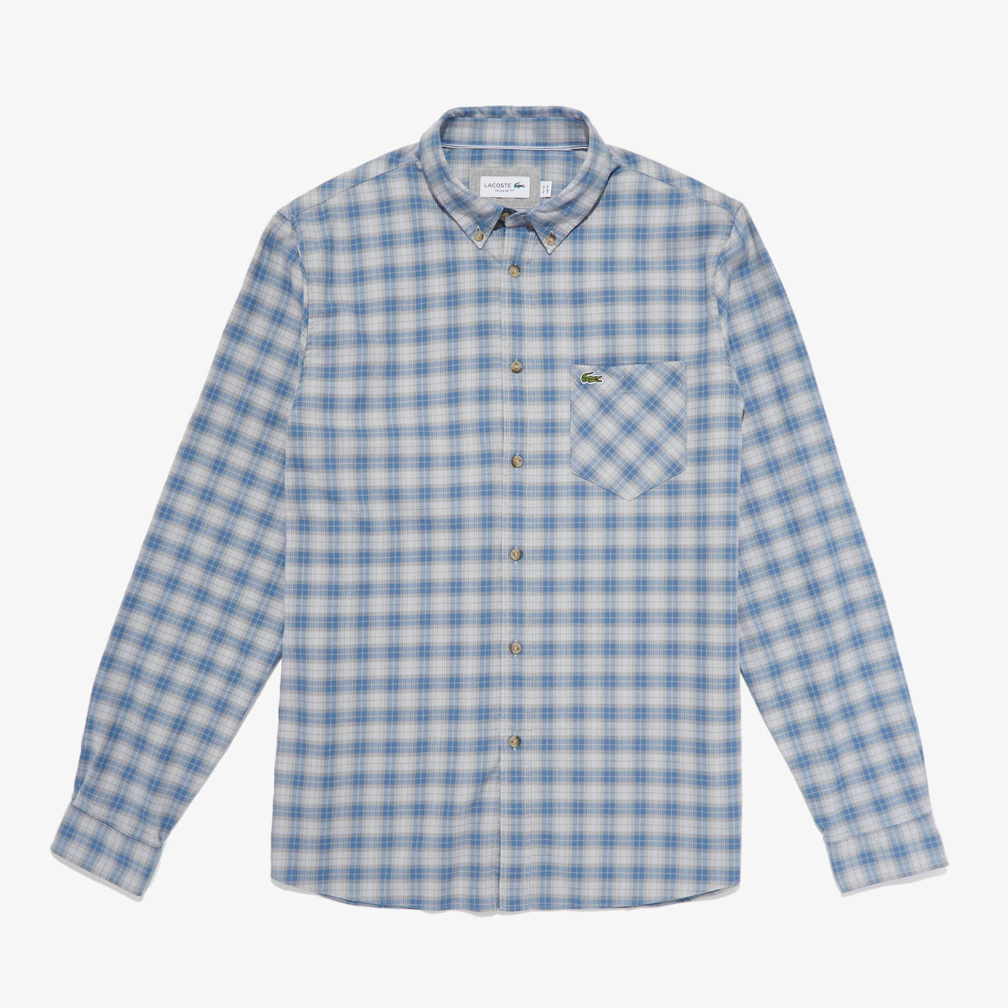 Lacoste Tops Men's Regular Fit Check Cotton Shirt