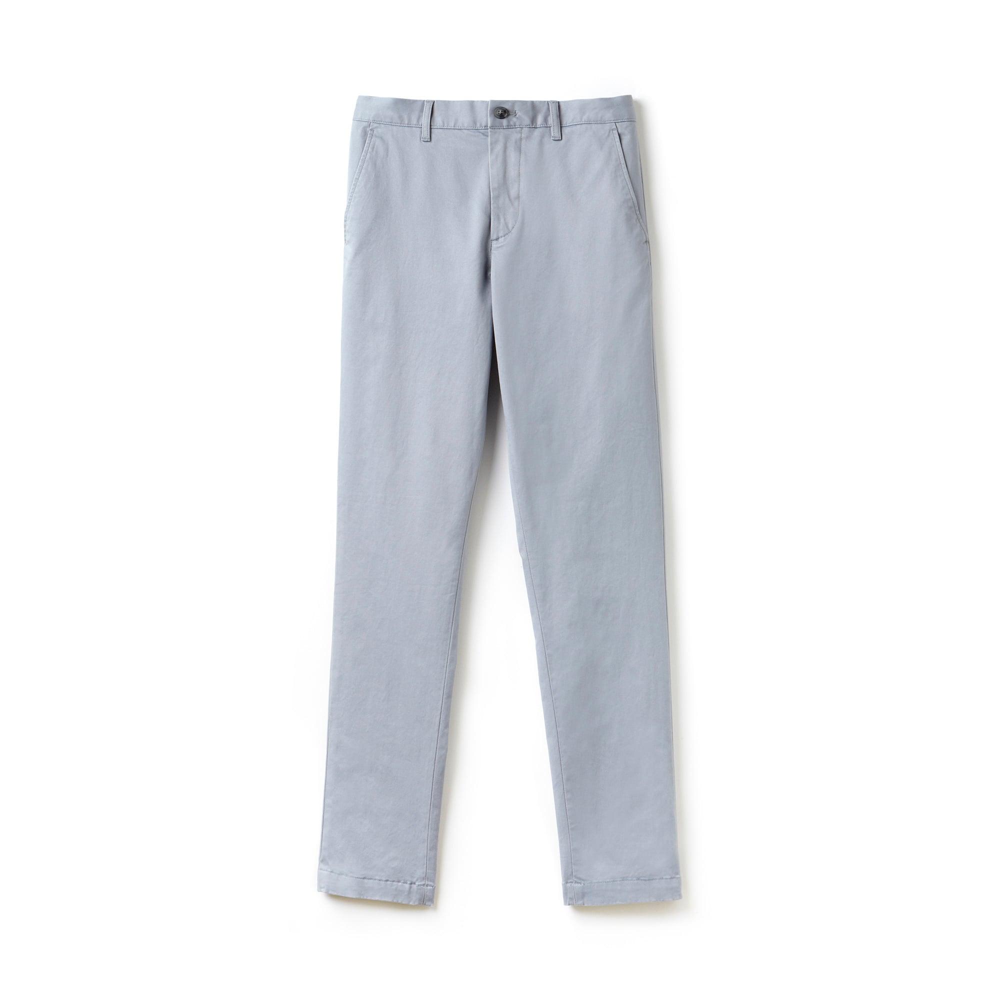 라코스테 Lacoste Mens Slim Fit Stretch Gabardine Chino Pants,blue