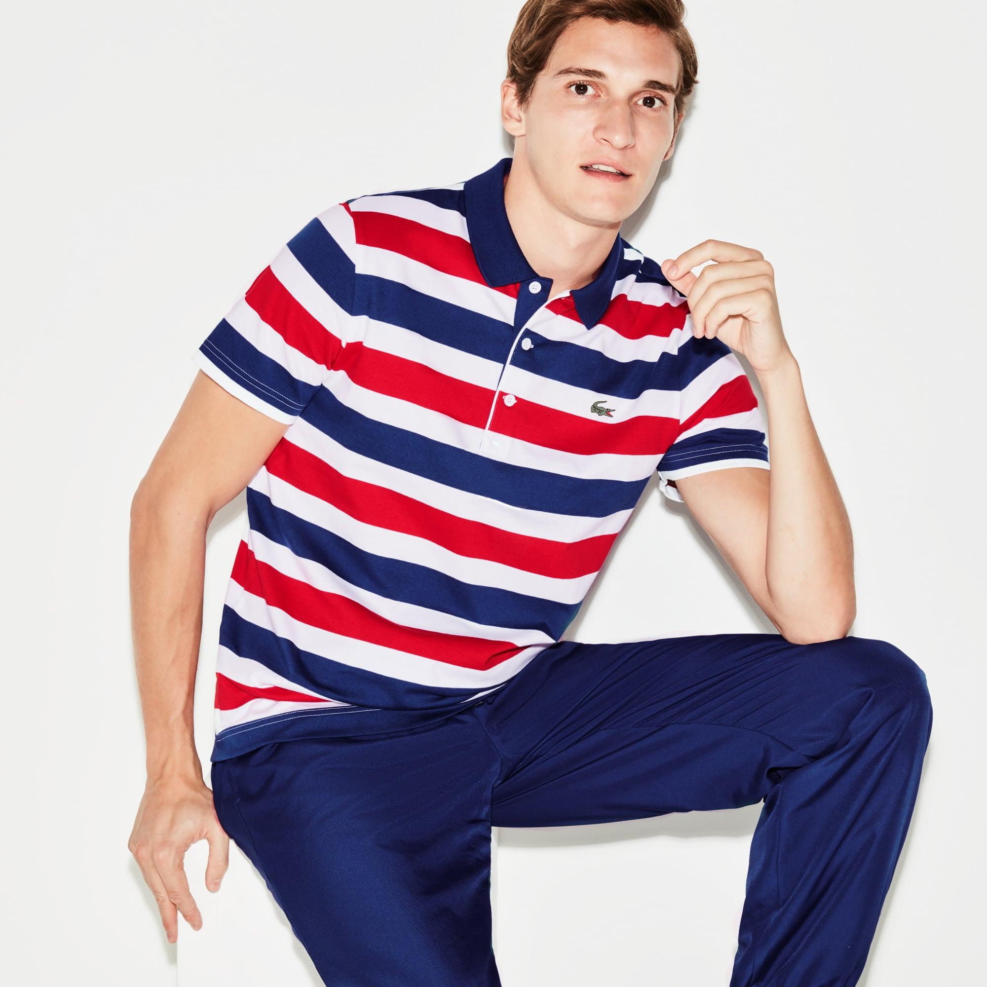 Men's SPORT Striped Tennis Polo