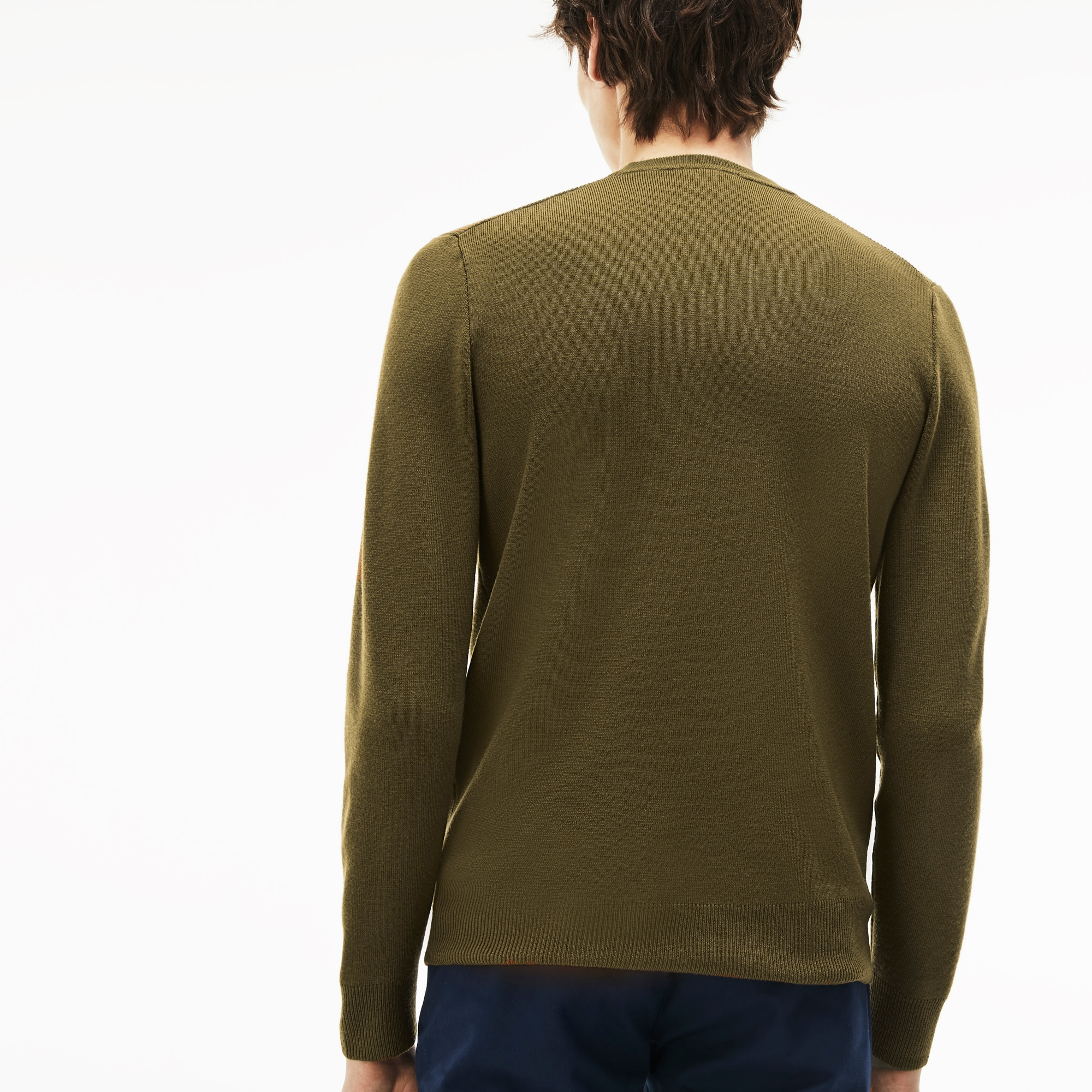 Men's Crew Neck Technical Knit Sweater