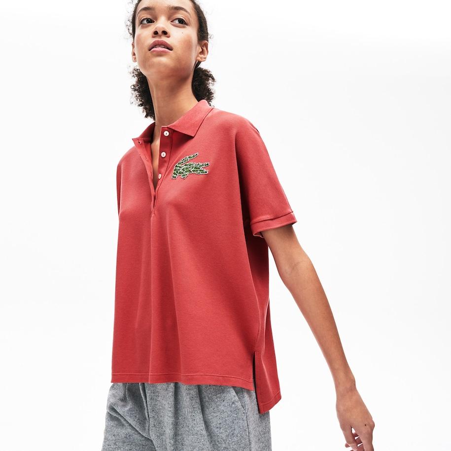 Women's Relaxed Fit Croco Magic Logo Piqué Polo