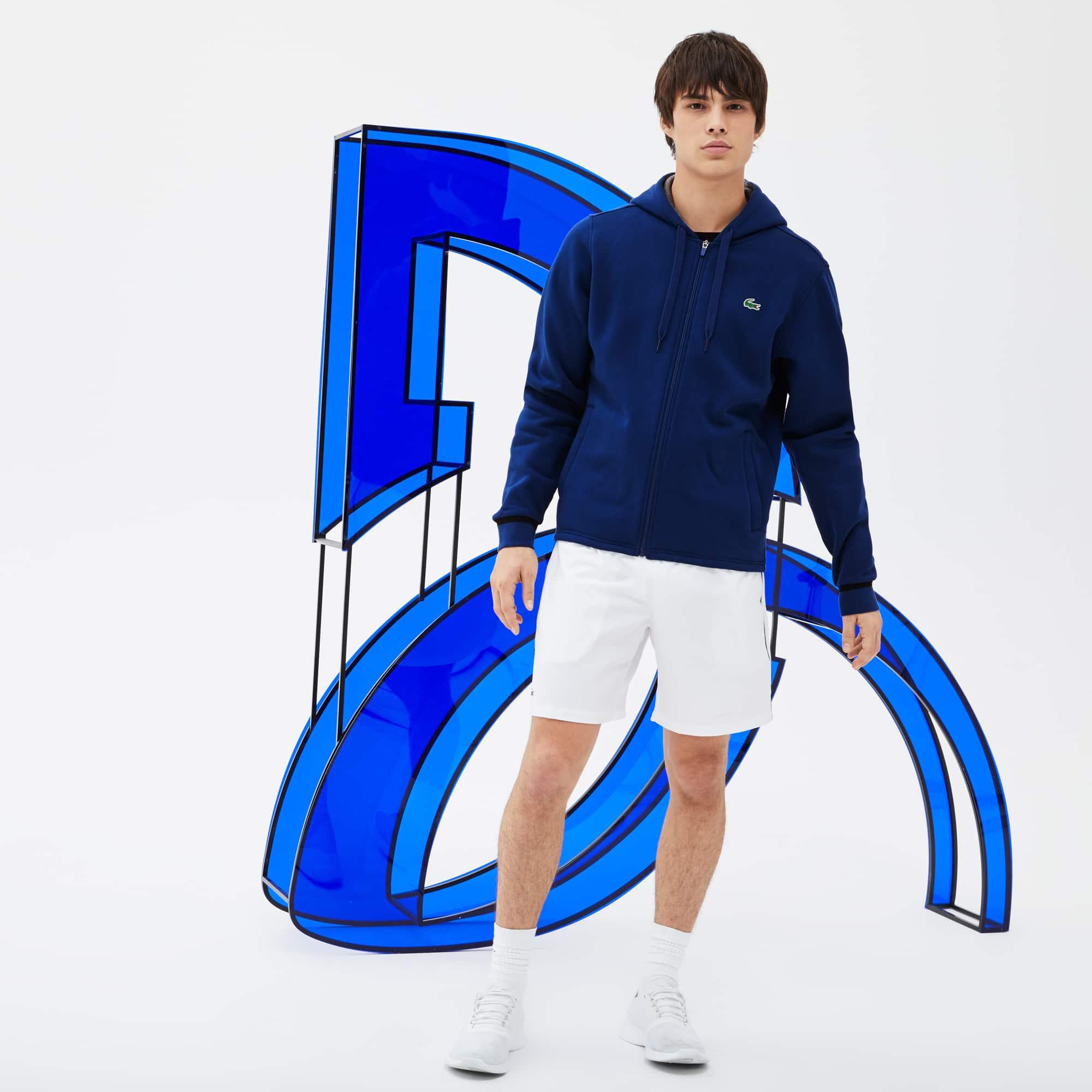 Men's Lacoste SPORT Hooded Fleece Zip Sweatshirt - Novak Djokovic Supporter Collection
