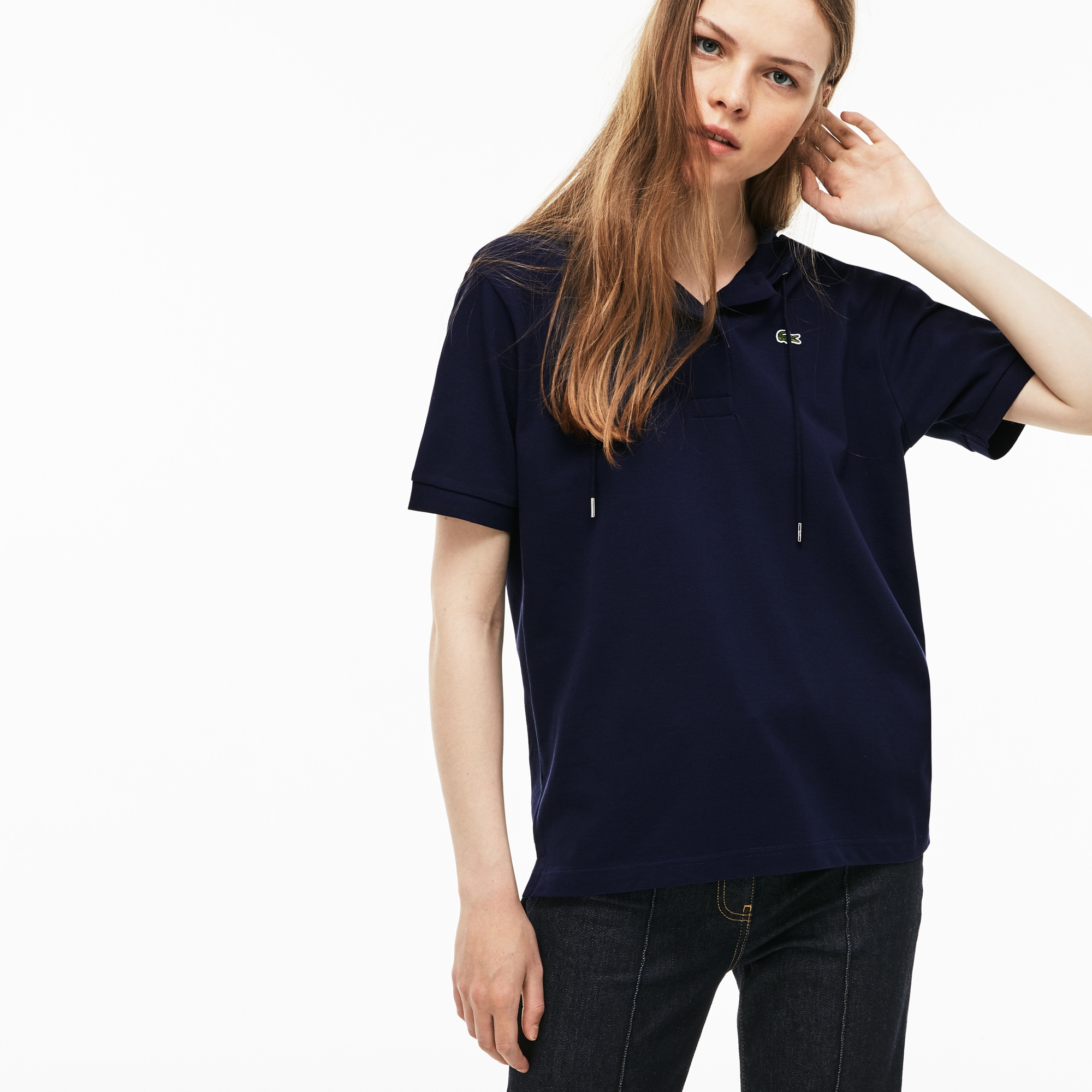 Women's Hooded Cotton Piqué Polo