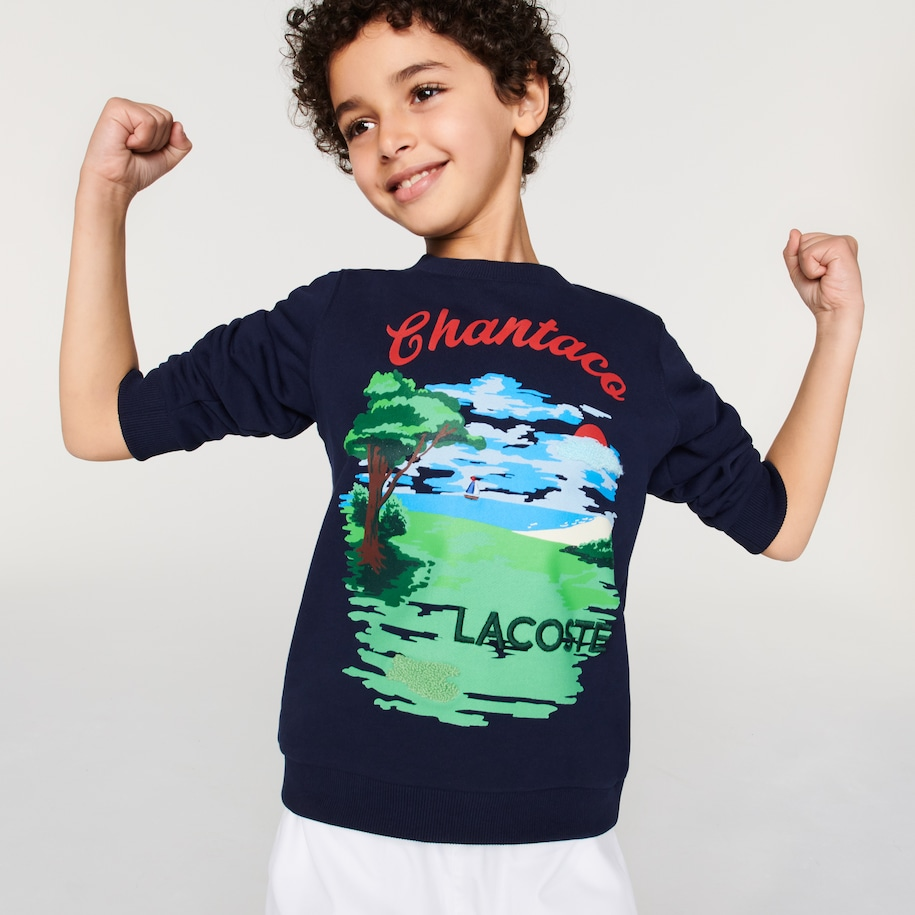 Boys' Chantaco Print Fleece Sweatshirt