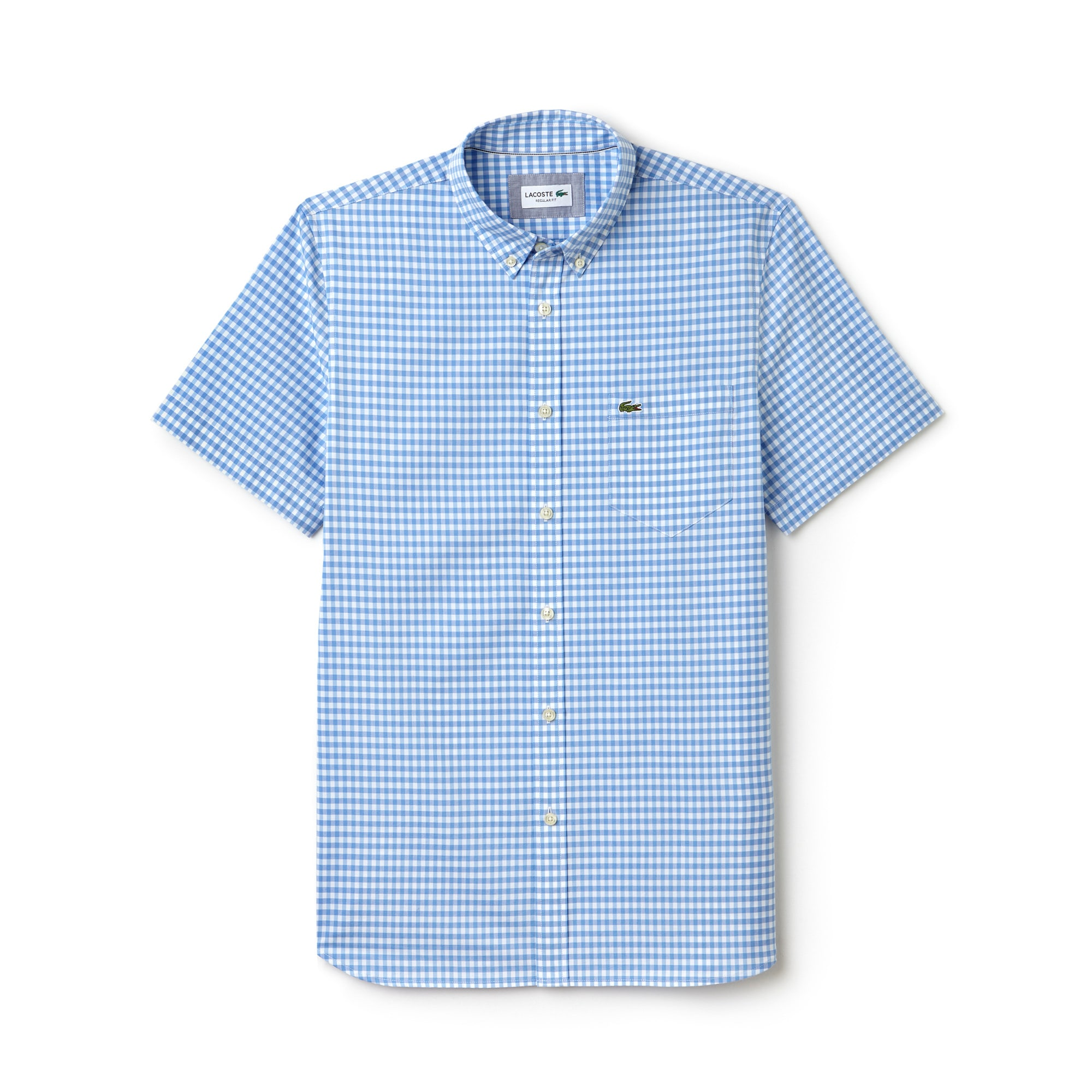 Men's Regular Fit Gingham Poplin Shirt