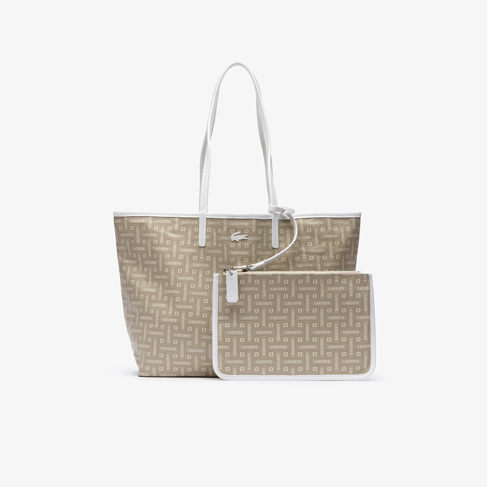 Women's Monogram Coated Cotton Canvas Tote Bag