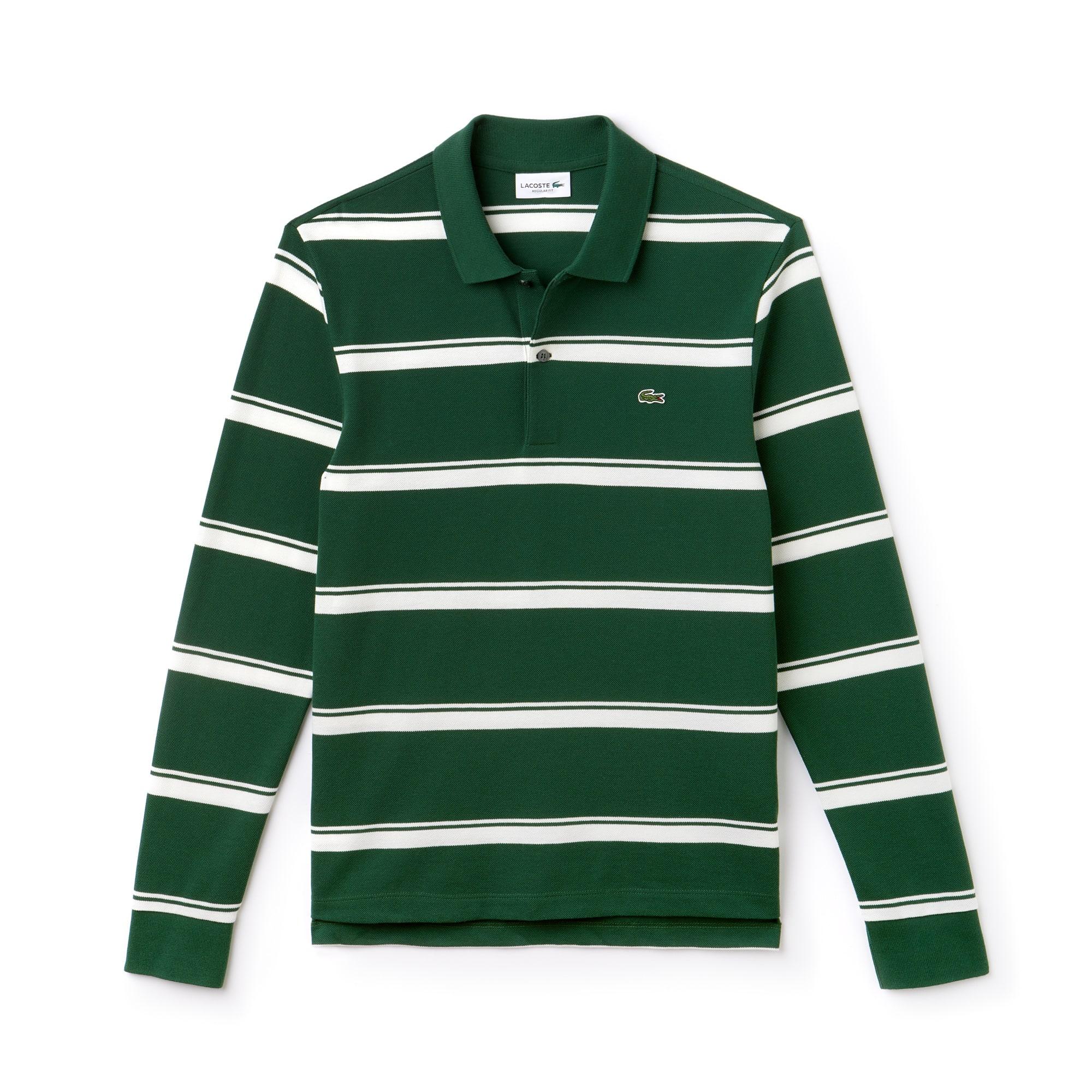 ... Men\u0027s Regular Fit Striped Petit Piqu� Polo
