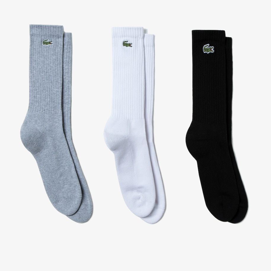 Men's Three-Pack Of Lacoste SPORT High-Cut Cotton Socks