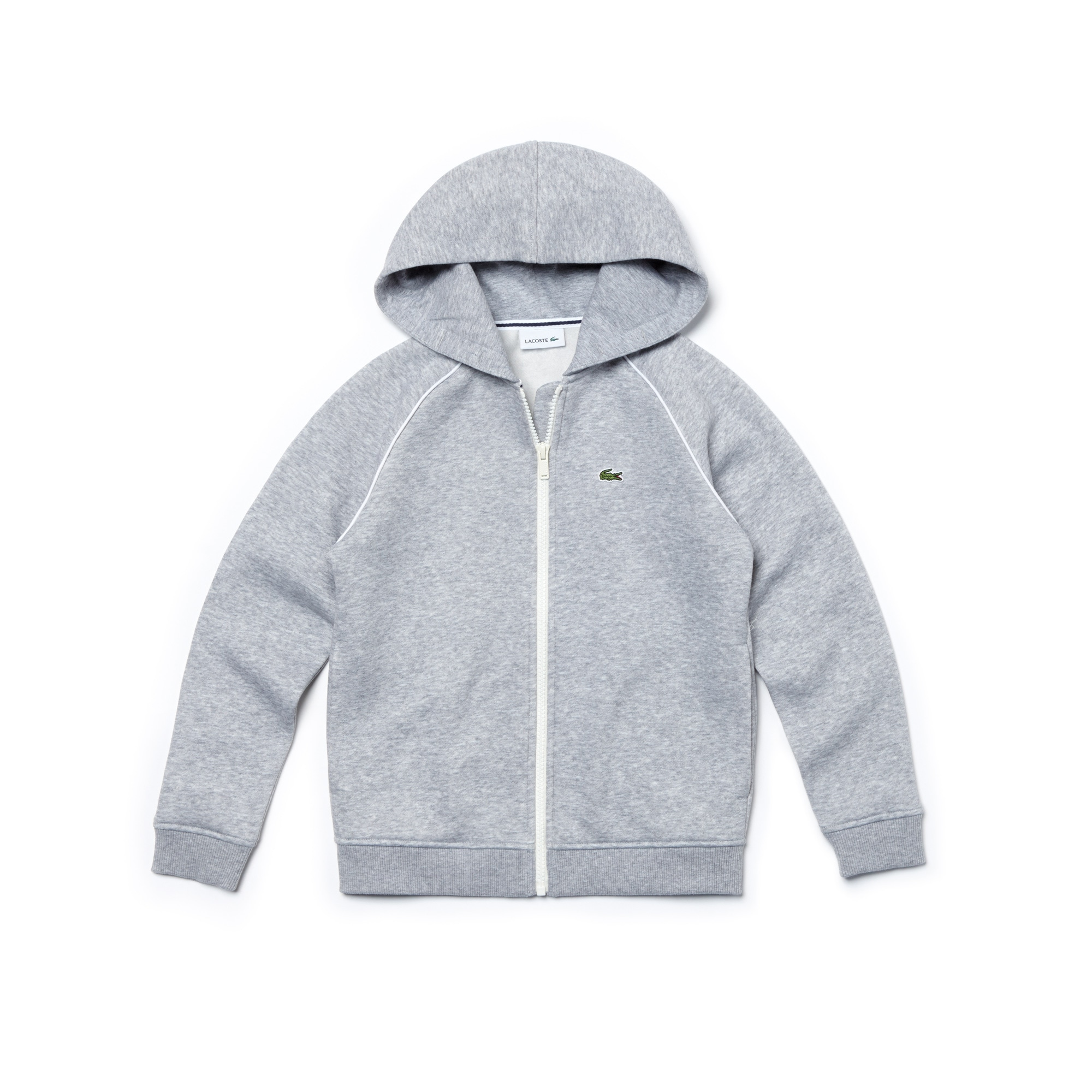 Boys' Hooded Piped Zip Sweatshirt