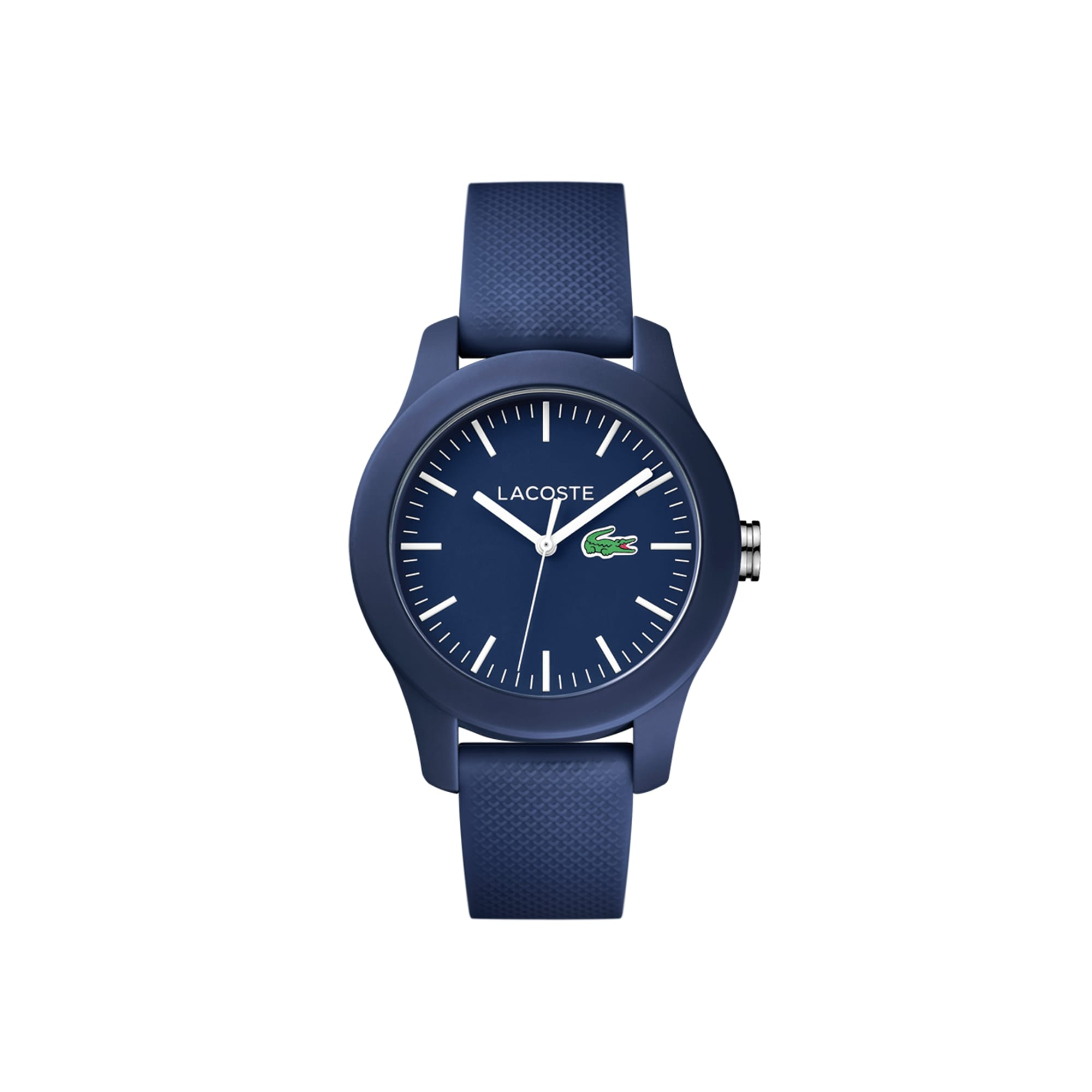 Women's Lacoste 12.12 Blue Rubber Strap