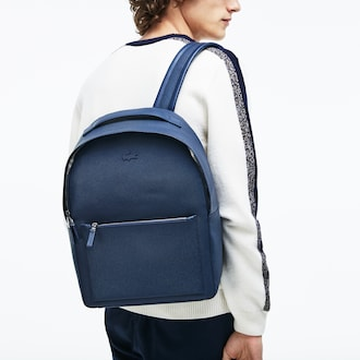 라코스테 샨타코 가죽 백팩 Lacoste Mens Chantaco Matte Pique Leather Backpack,PEACOAT