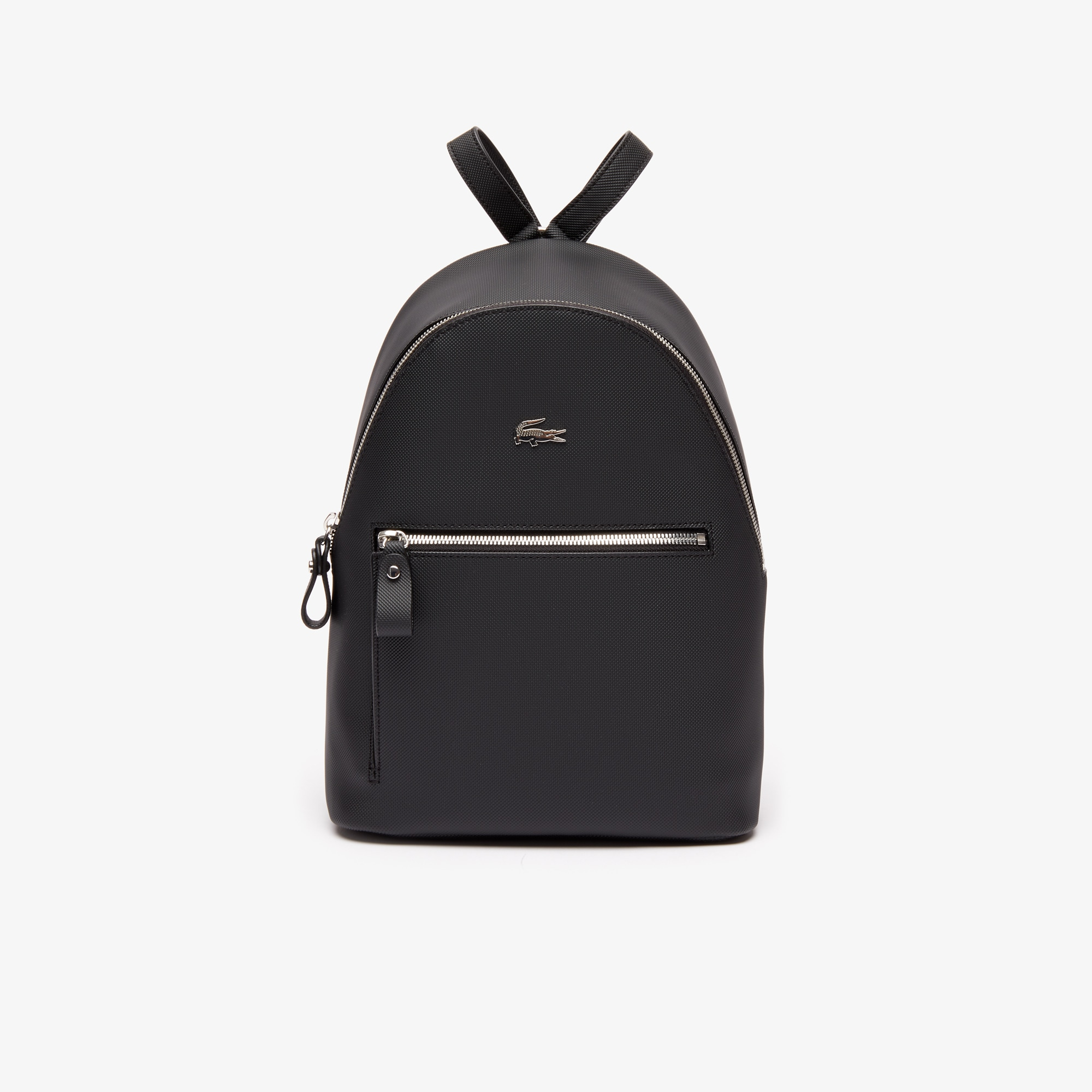라코스테 Lacoste Womens Daily Classic Coated Pique Canvas Backpack,black