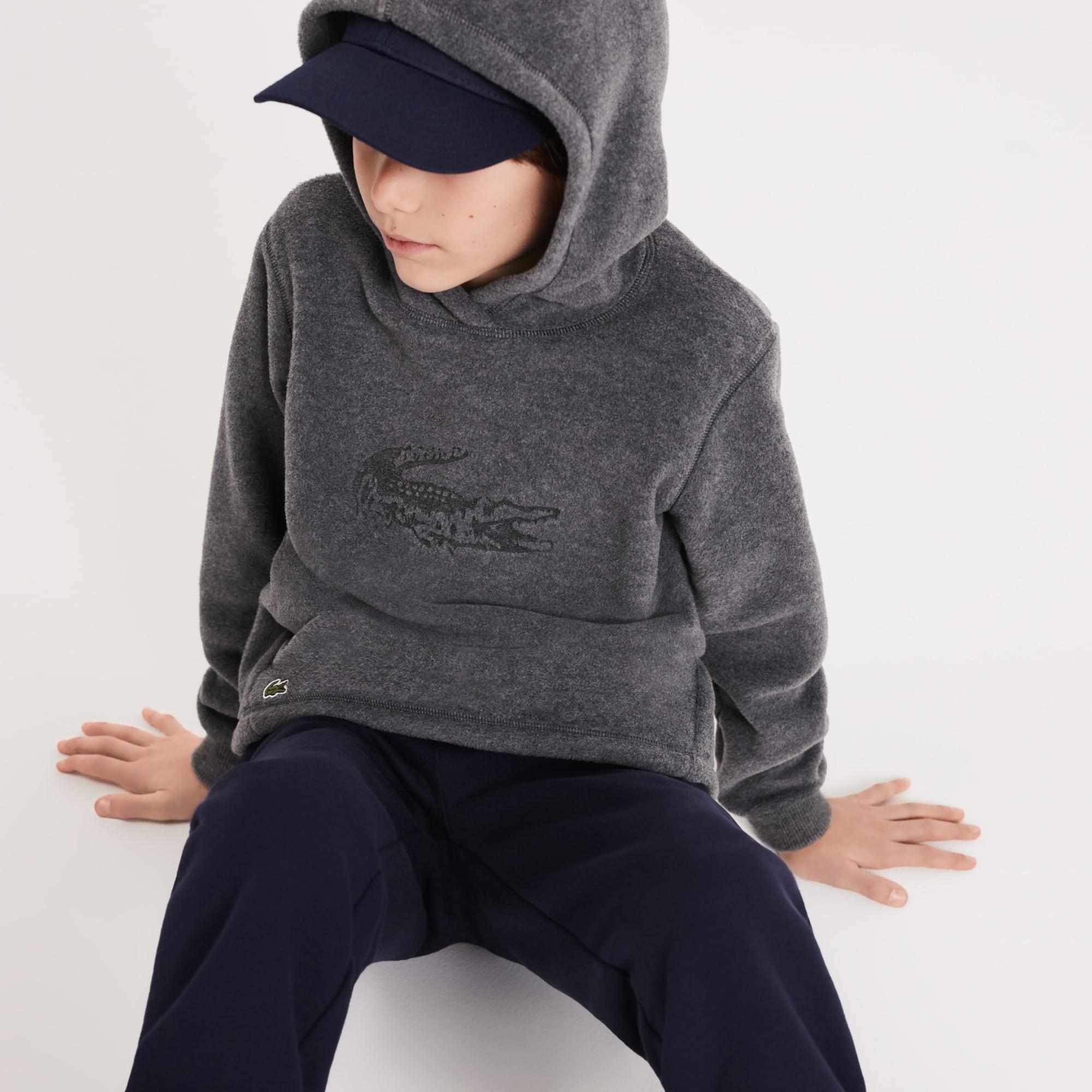 8d9cdab05f7a Boys  Oversized Crocodile Hooded Fleece Sweatshirt