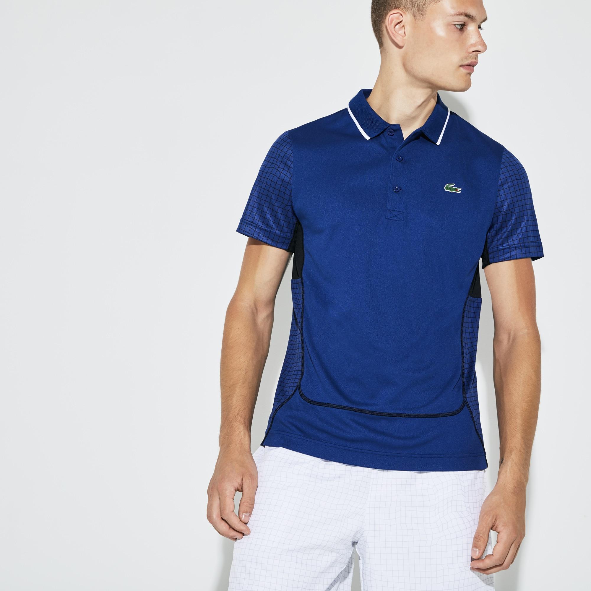 Men's SPORT Net Print Piqué Tennis Polo