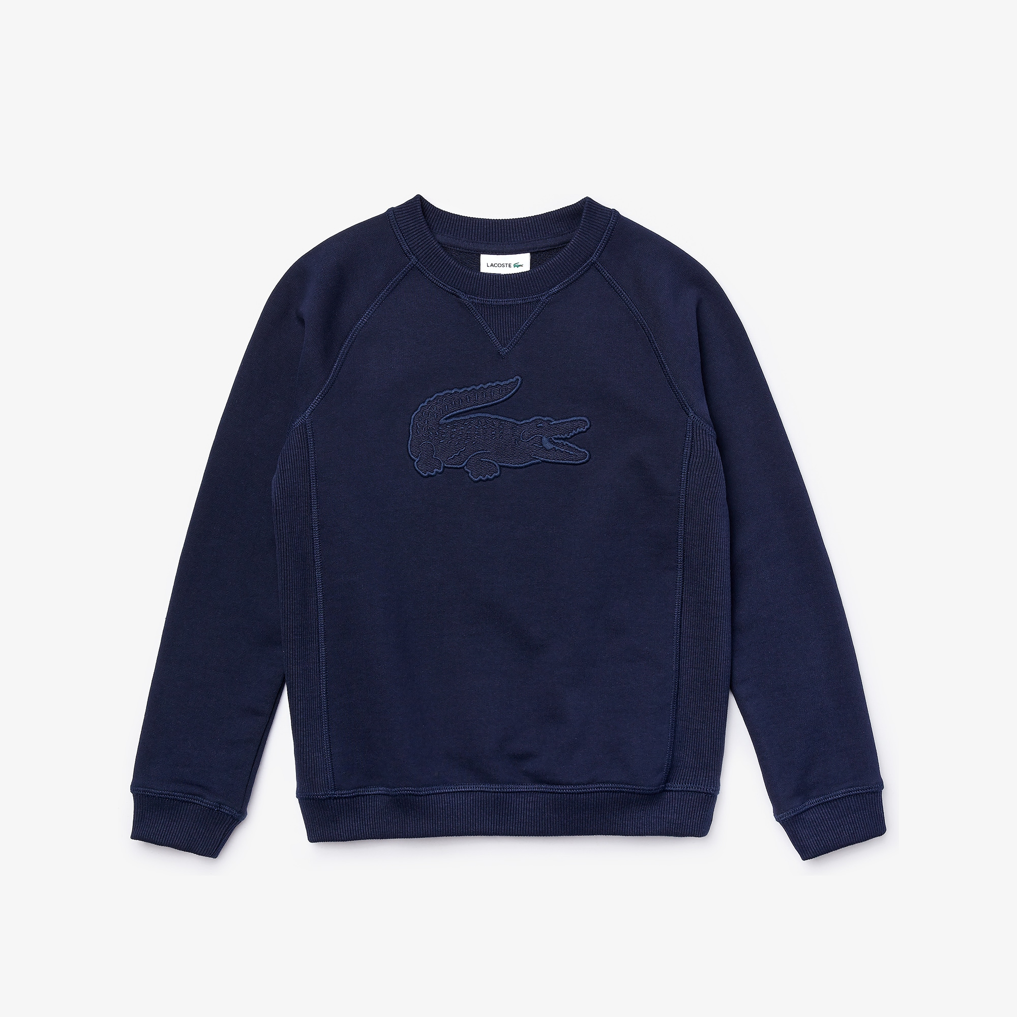 Boys' Embroidered Croc Cotton Graphic Sweatshirt