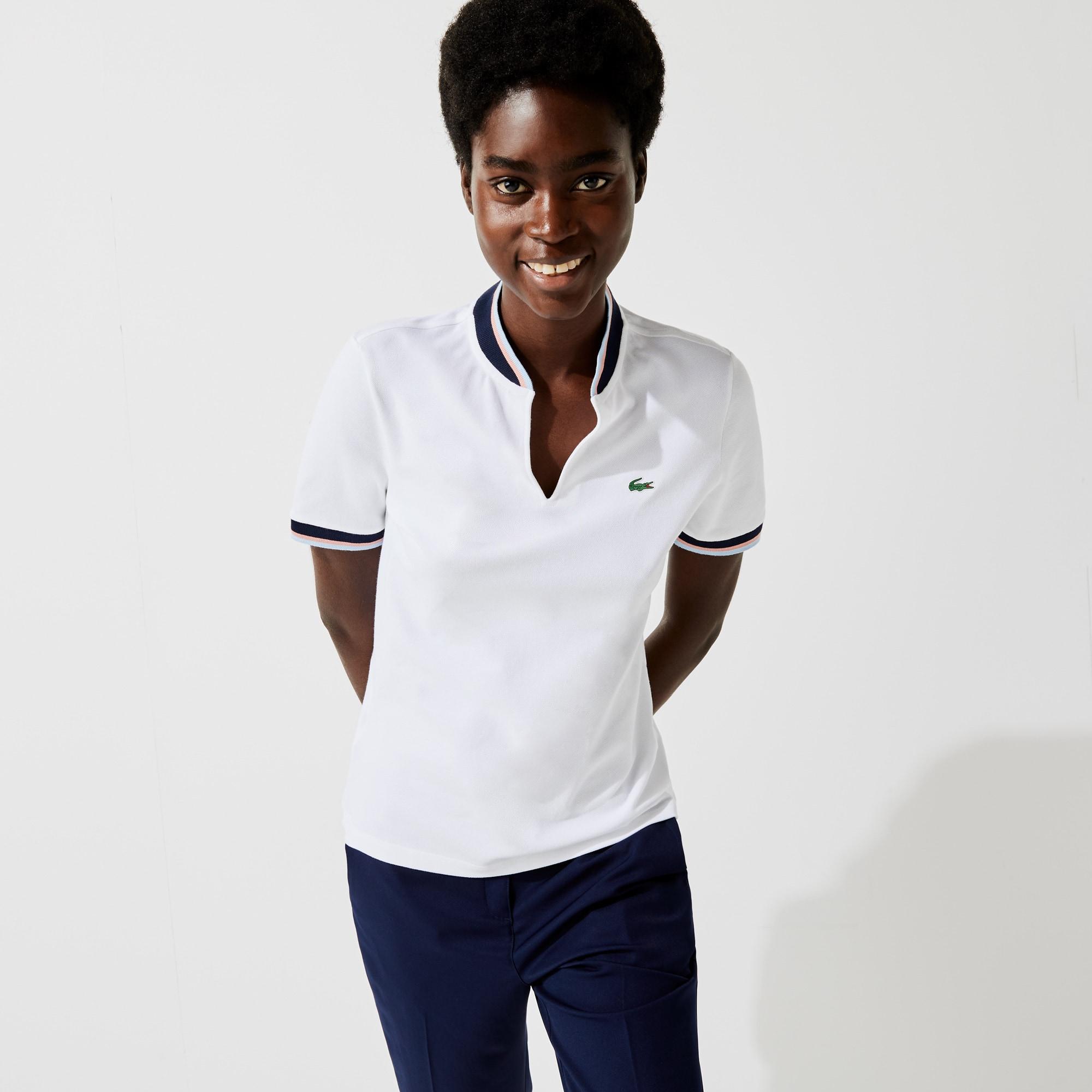 Lacoste Women's SPORT Regular Fit Stretch Pique Golf Polo
