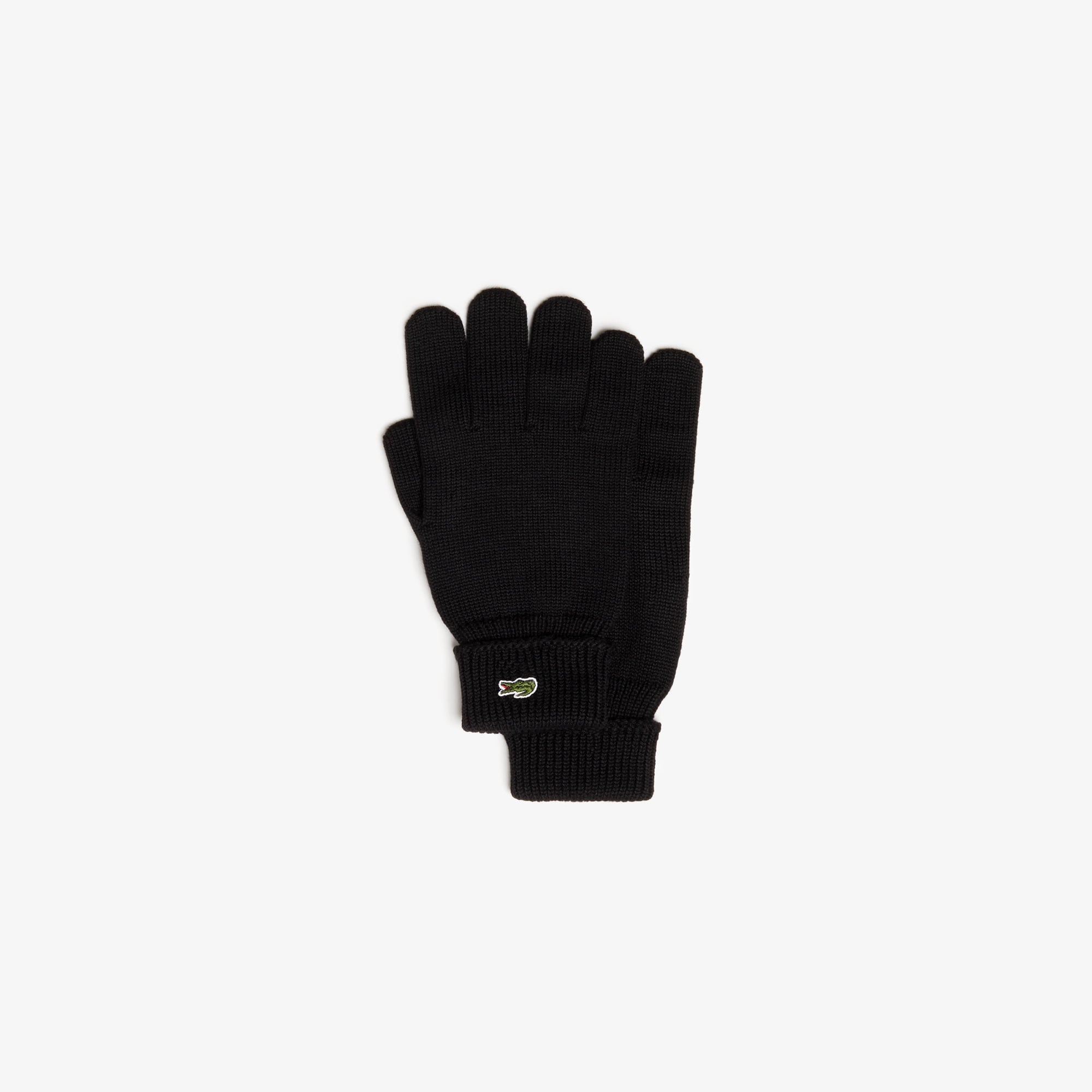 Men's Green Croc Wool Gloves