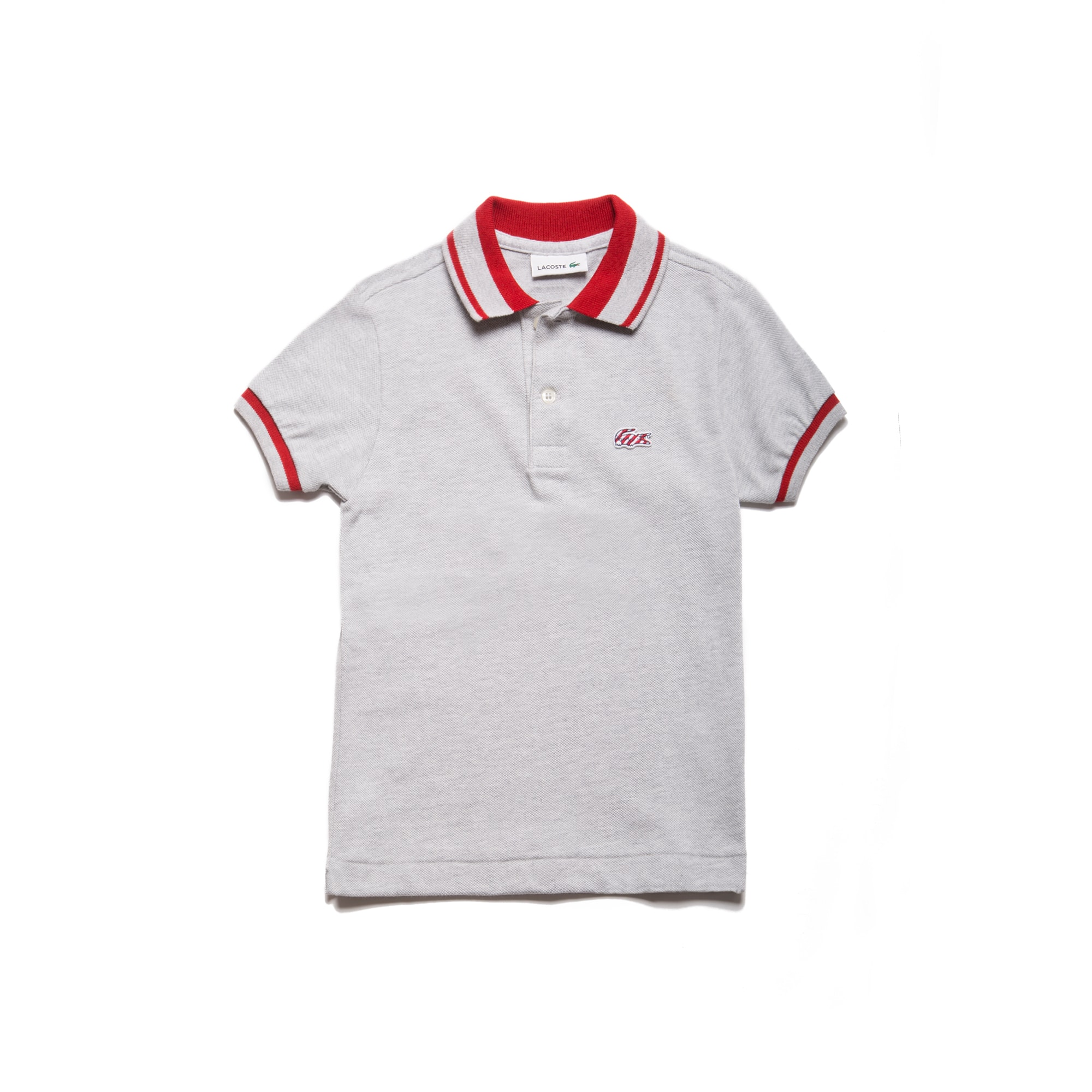 Boy's Candy Striped Cotton Polo Shirt