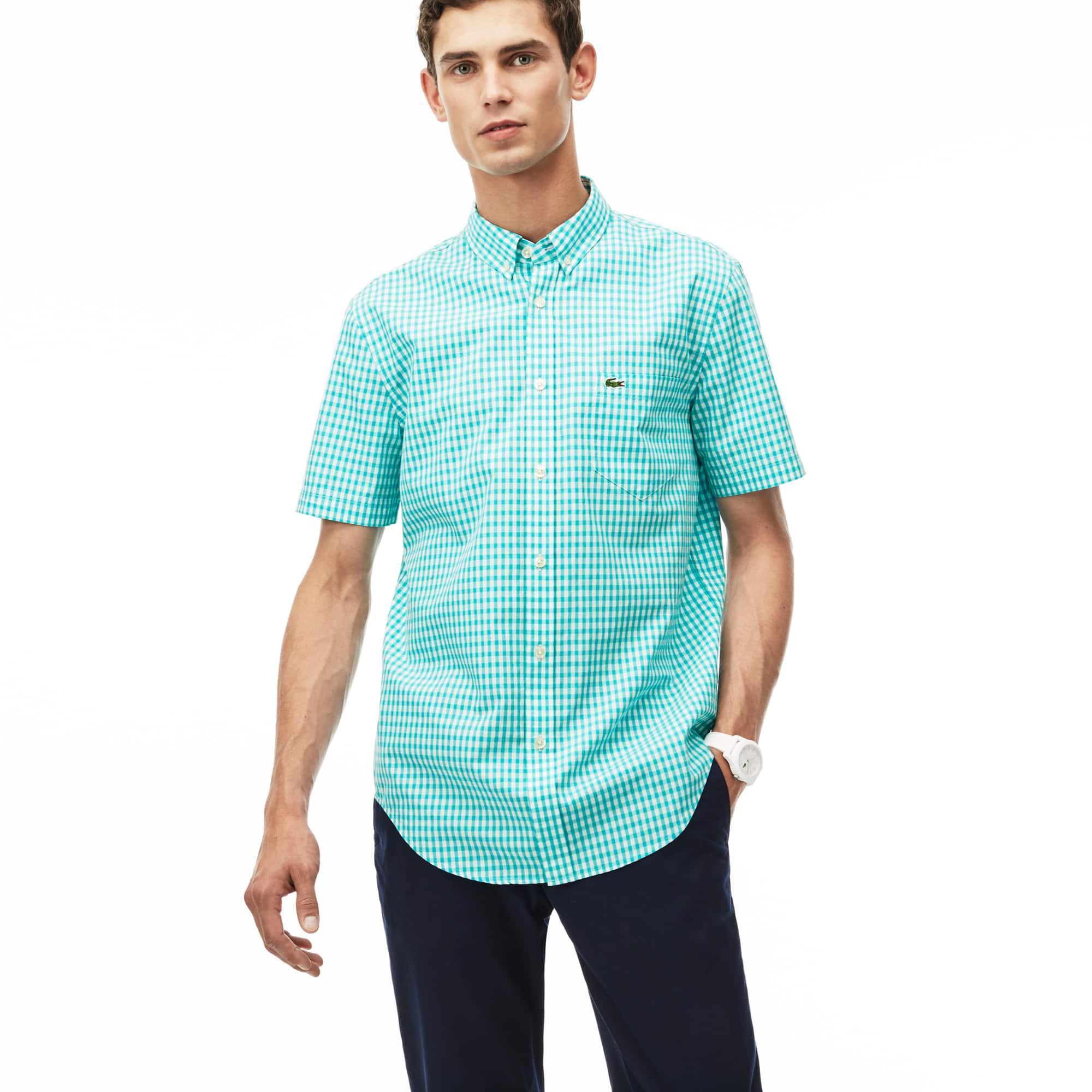 Men's Gingham Check Poplin Shirt