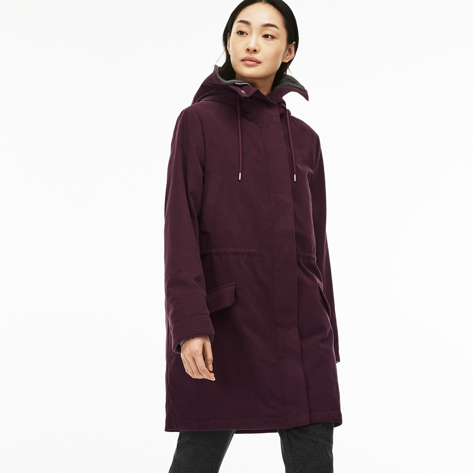 Women's Water-Resistant Moleskin Hooded Parka