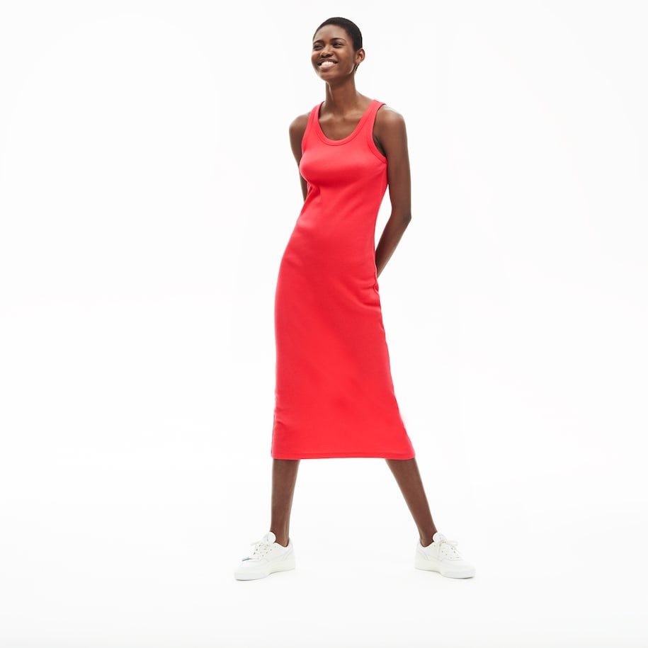 Women's Long Ribbed Cotton Dress