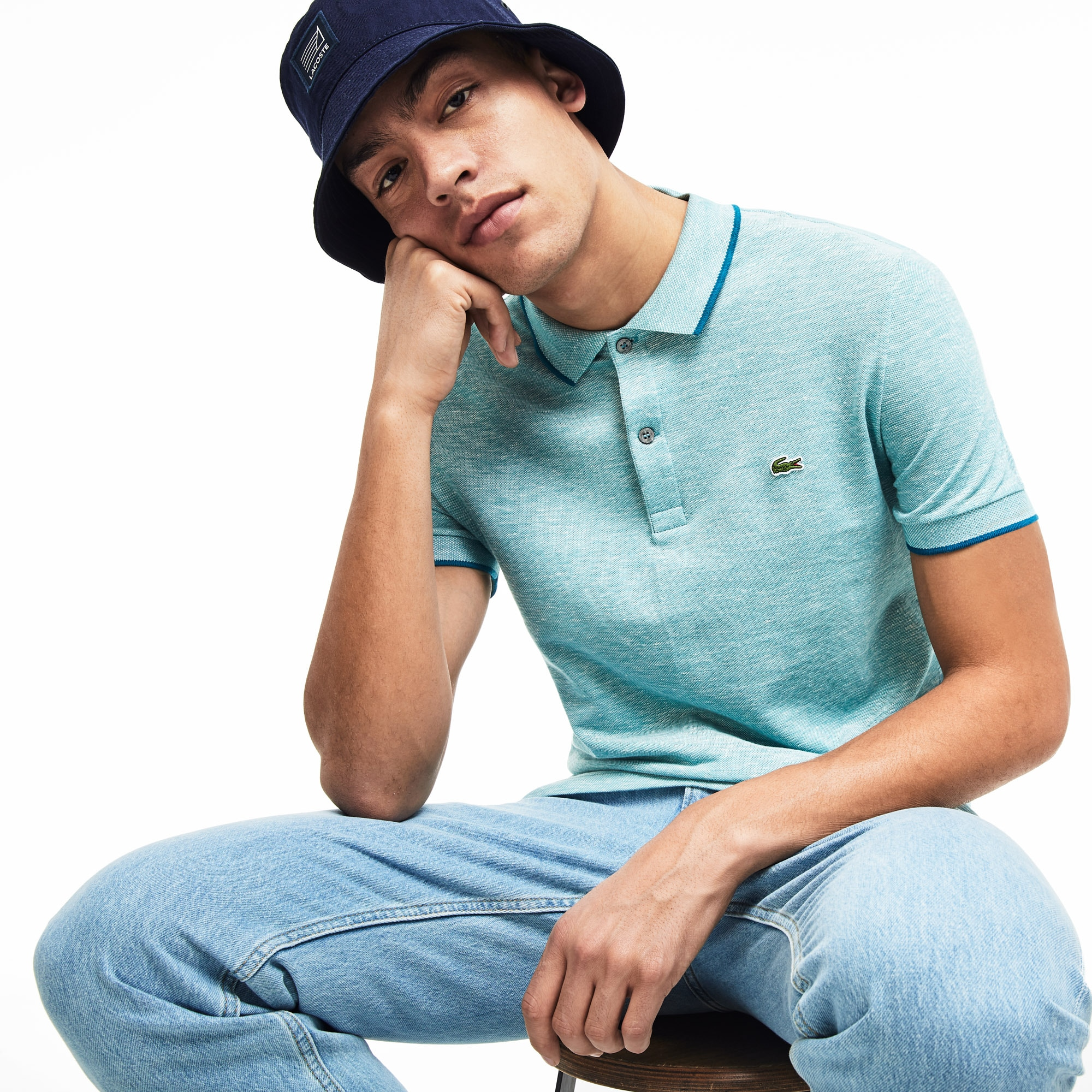 Lacoste Mens Regular Fit Pique Polo Shirt