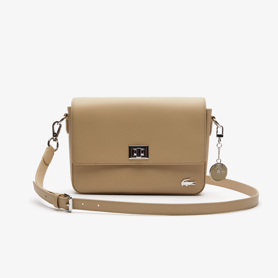 Women's Daily Classic Coated Piqué Canvas Clasp Shoulder Bag