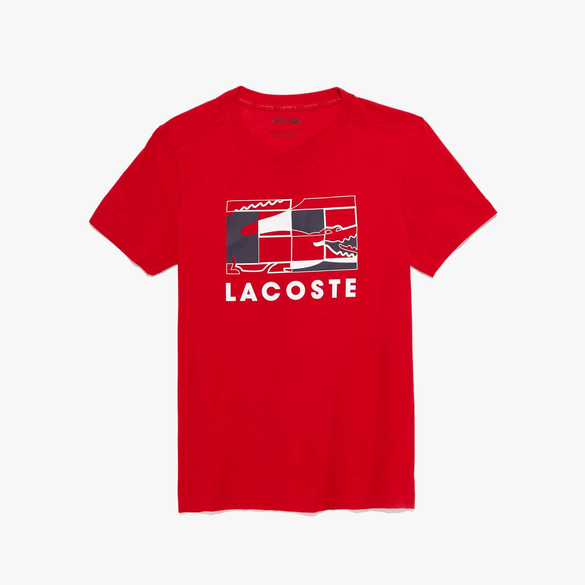 Lacoste Tops Men's SPORT Crocodile Design Breathable T-shirt
