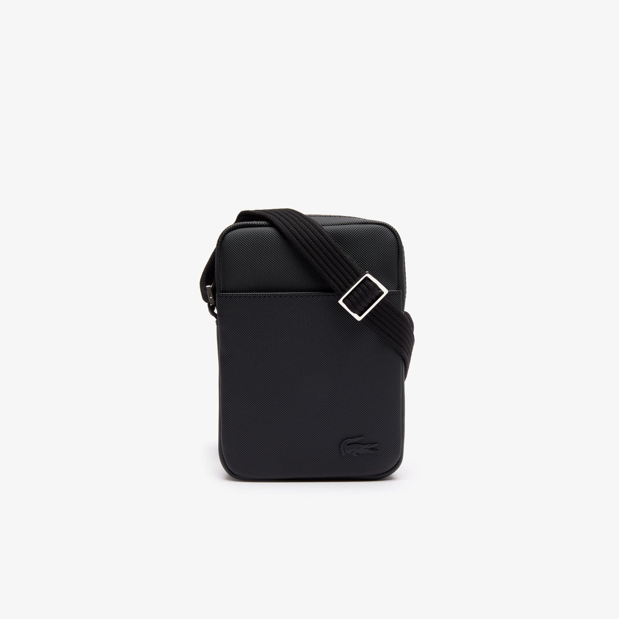 라코스테 Lacoste Mens Classic Petit Pique Vertical Zip Bag,black