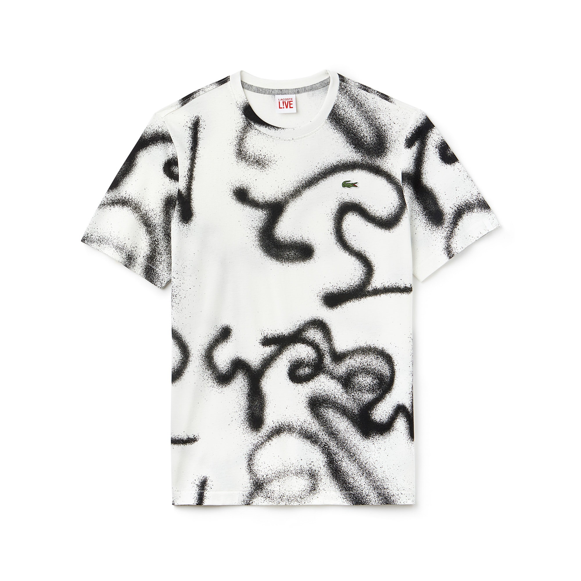 Men's LIVE Graffiti Print T-Shirt