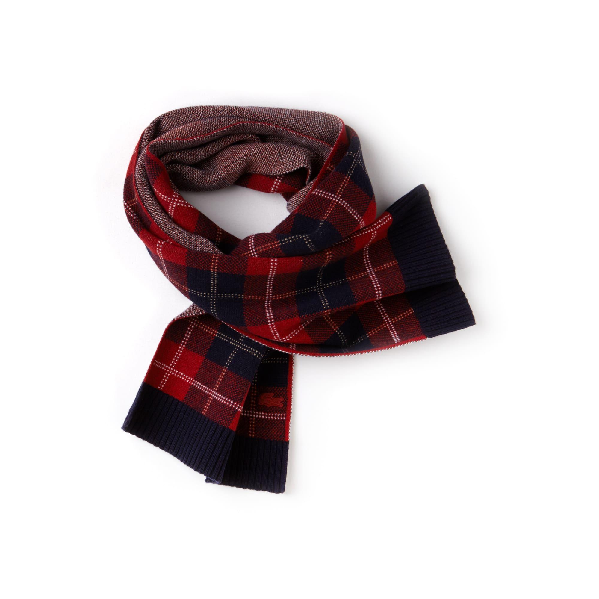 Écharpe en jacquard de laine motif tartan